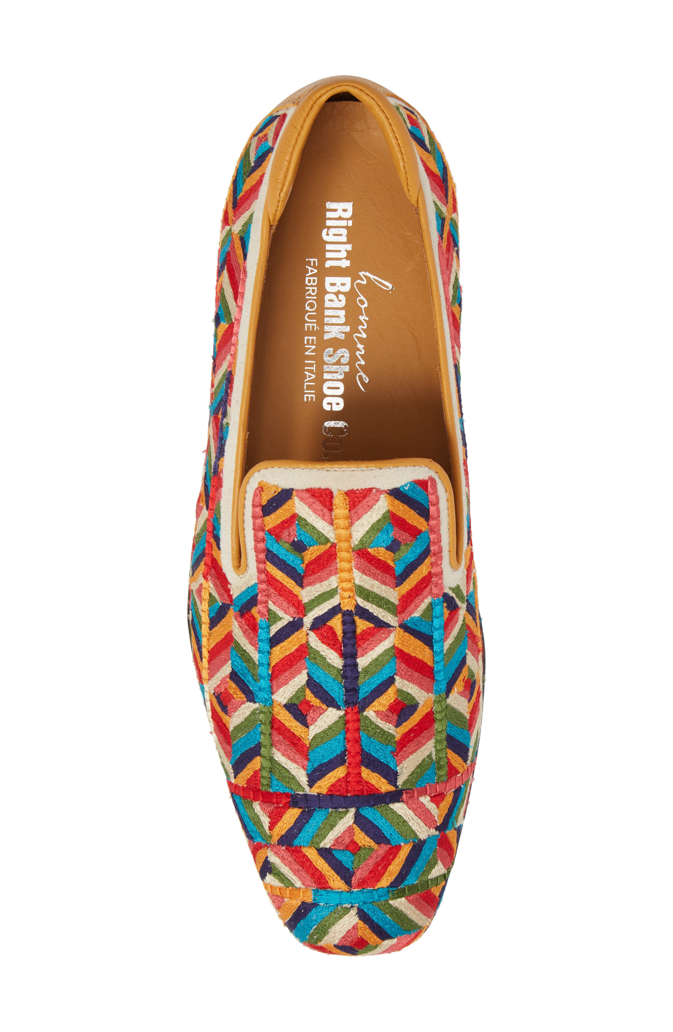 Verge Venetian Loafer,                             Alternate thumbnail 5, color,                             Yellow Fabric