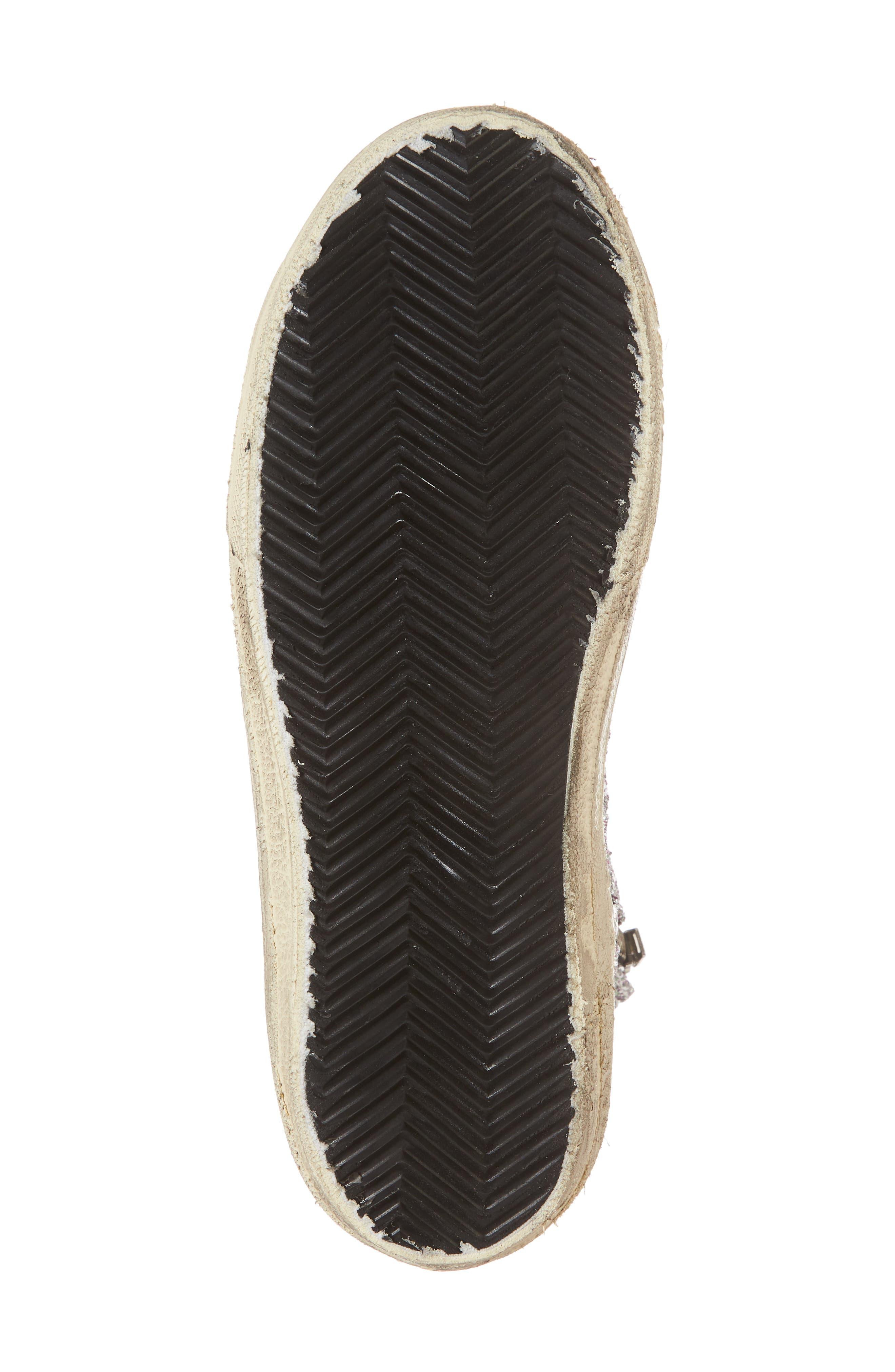 Slide High Top Sneaker,                             Alternate thumbnail 6, color,                             Bordeaux / Pink/ Gold