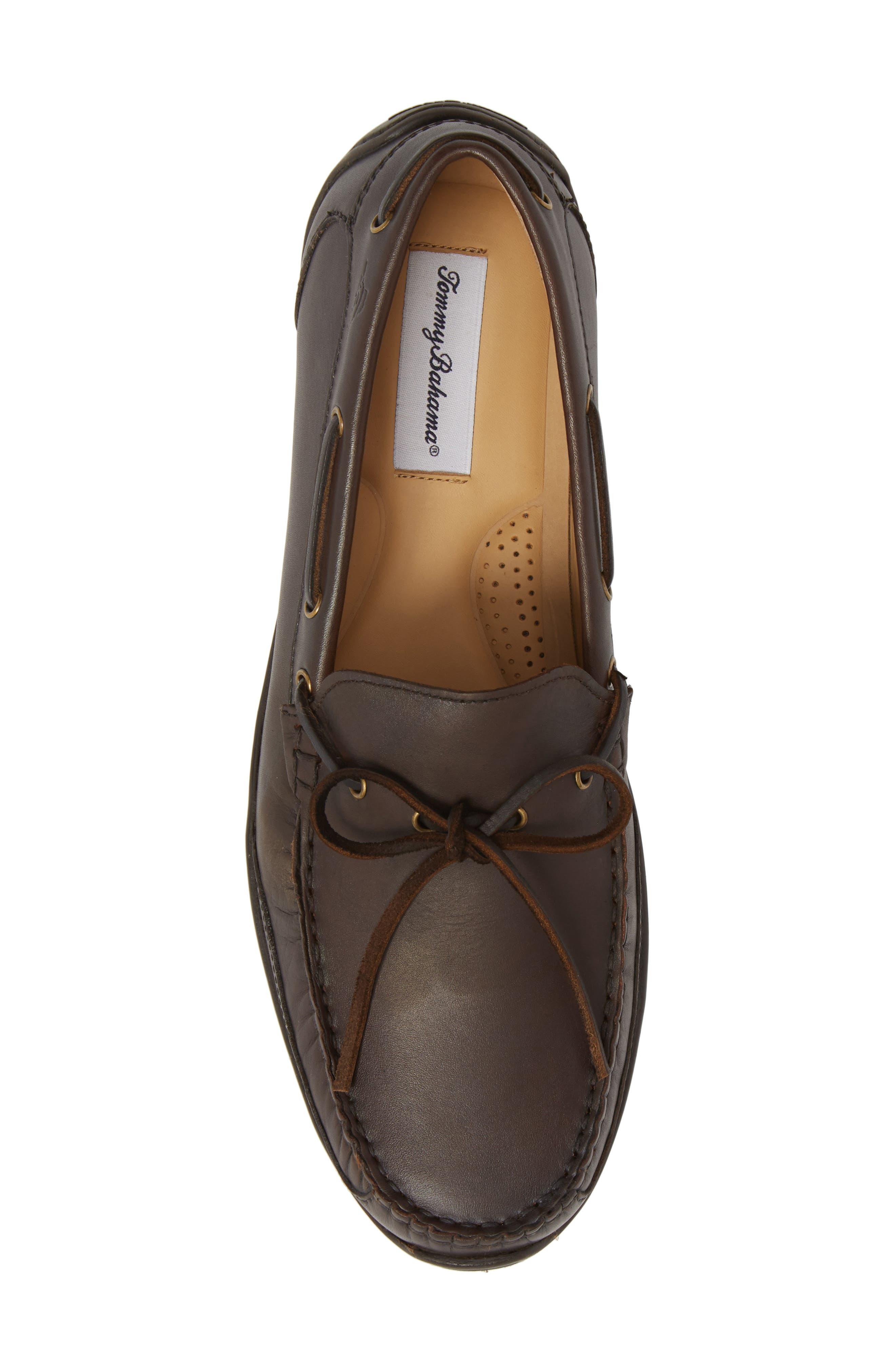 Tangier Driving Shoe,                             Alternate thumbnail 5, color,                             Medium Brown Leather