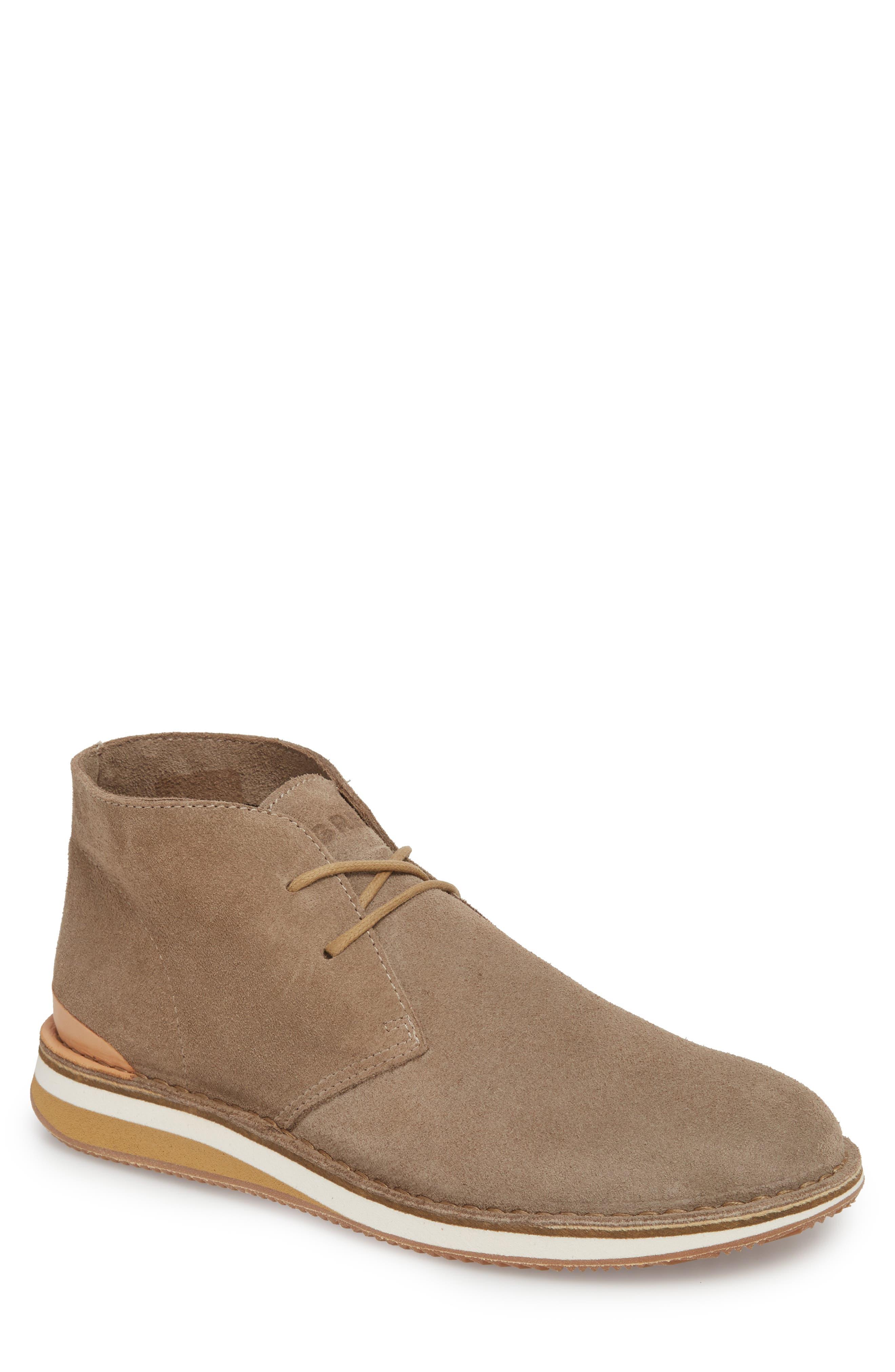 Hirsh Chukka Boot,                         Main,                         color, Light Beige Suede