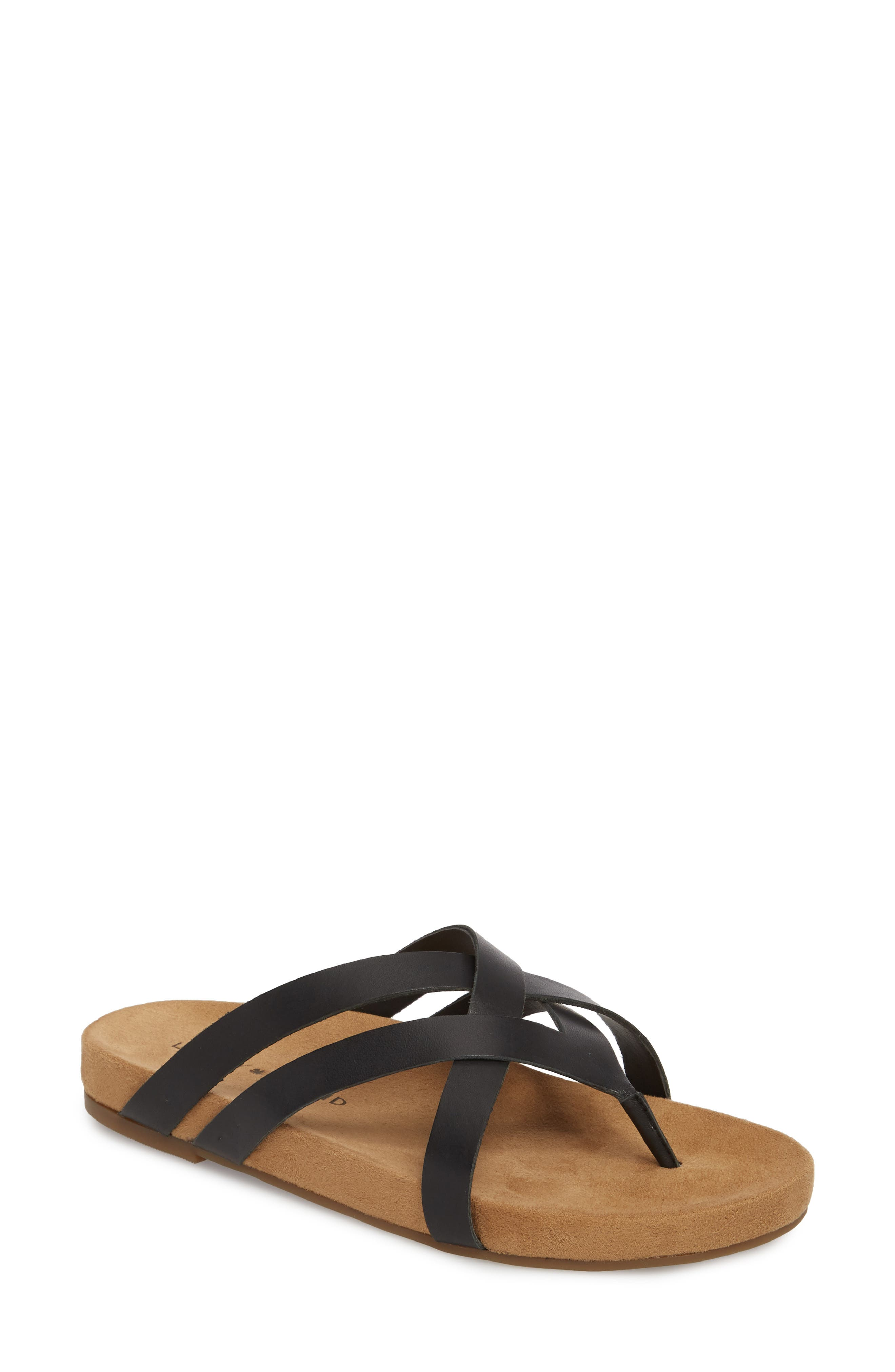 Fillima Flip Flop,                         Main,                         color, Black Leather