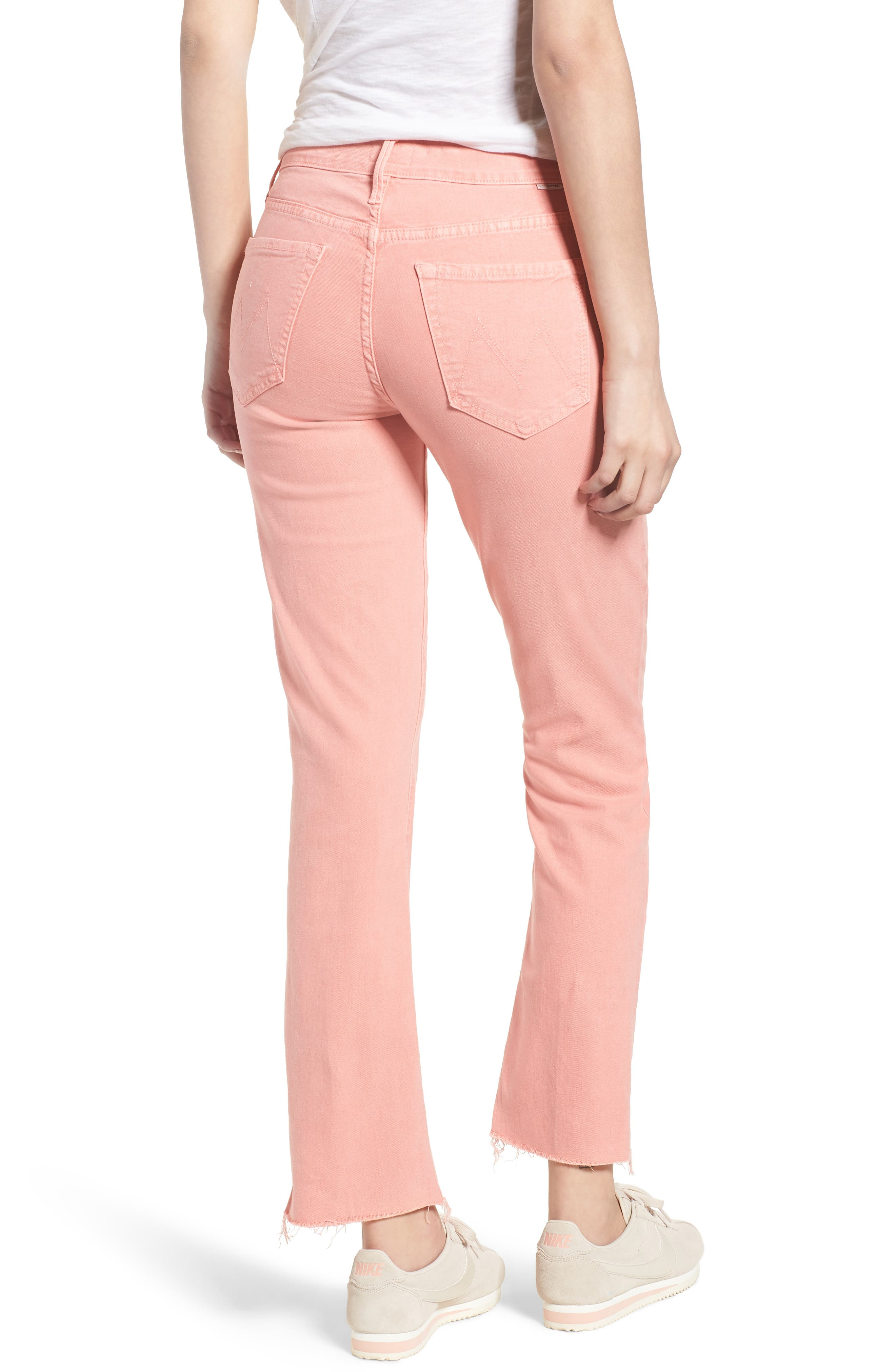 The Rascal Ankle Snippet Jeans,                             Alternate thumbnail 2, color,                             Dusty Pink