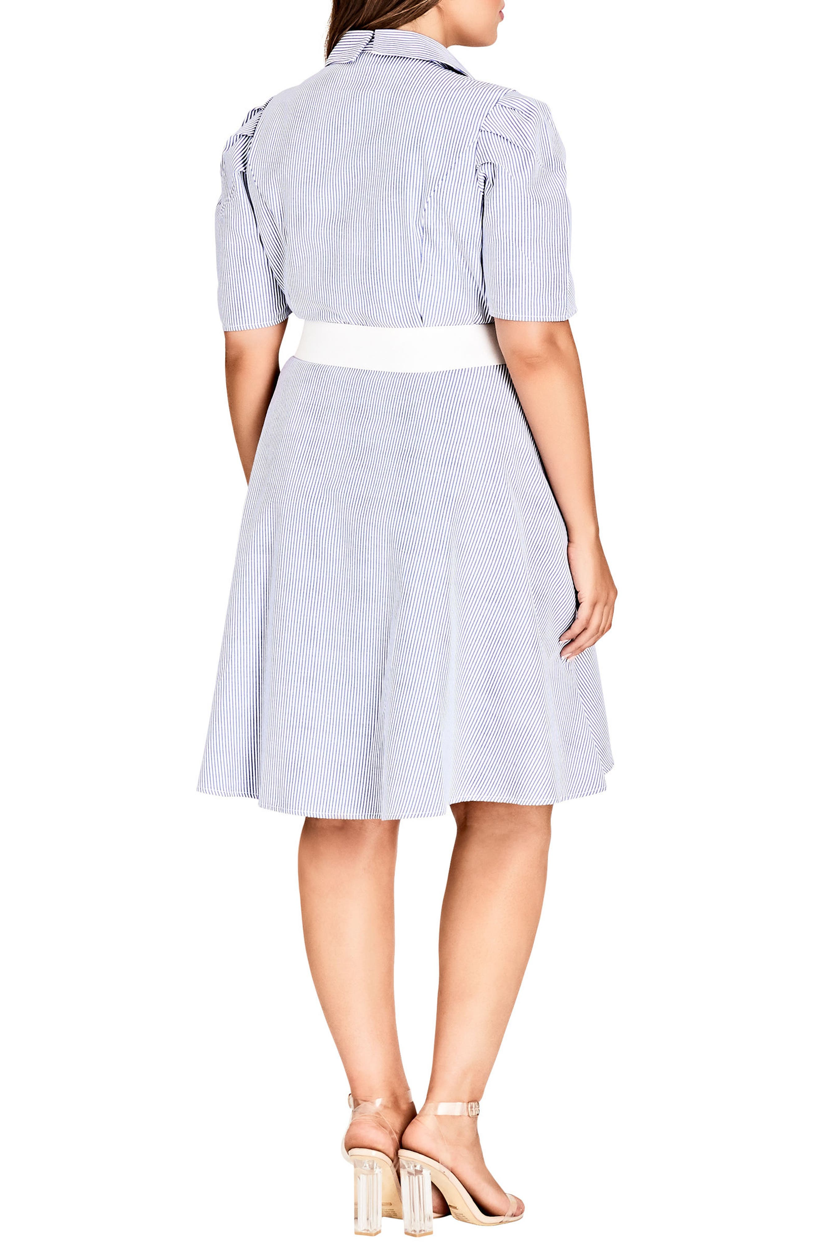 Stripe Essence Shirtdress,                             Alternate thumbnail 2, color,                             Lapis Stripe