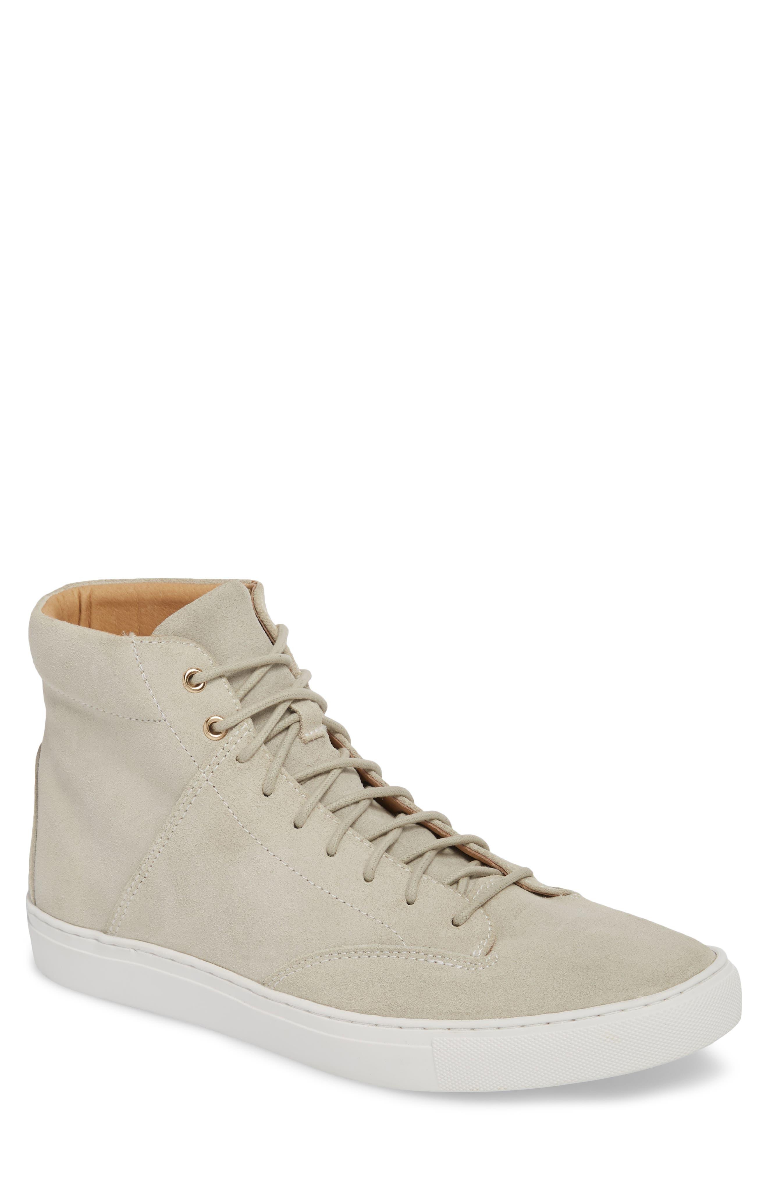 'Porter' High Top Sneaker,                             Main thumbnail 1, color,                             Quartz Leather