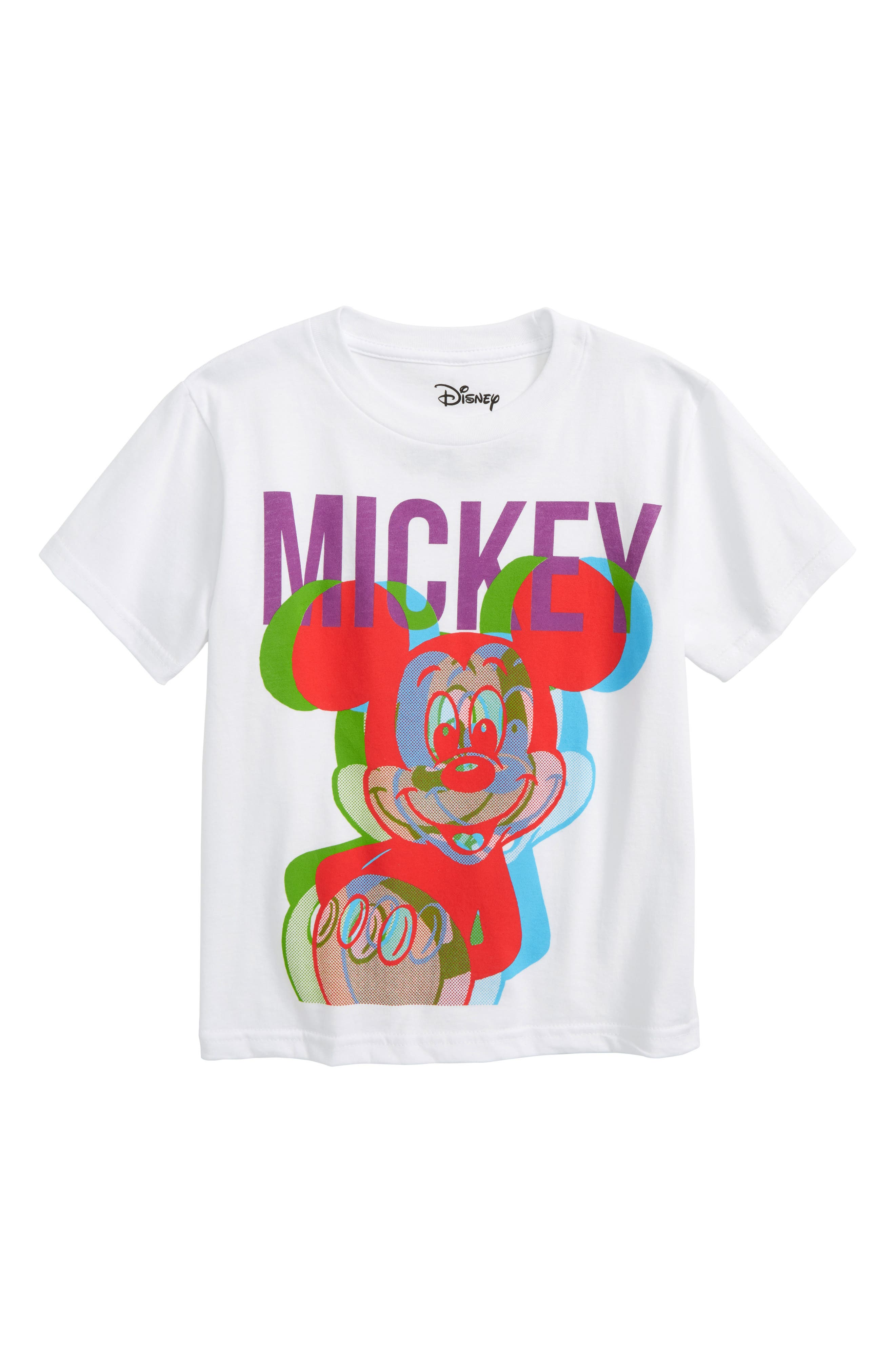 Disney Mickey Mouse T-Shirt,                             Main thumbnail 1, color,                             White