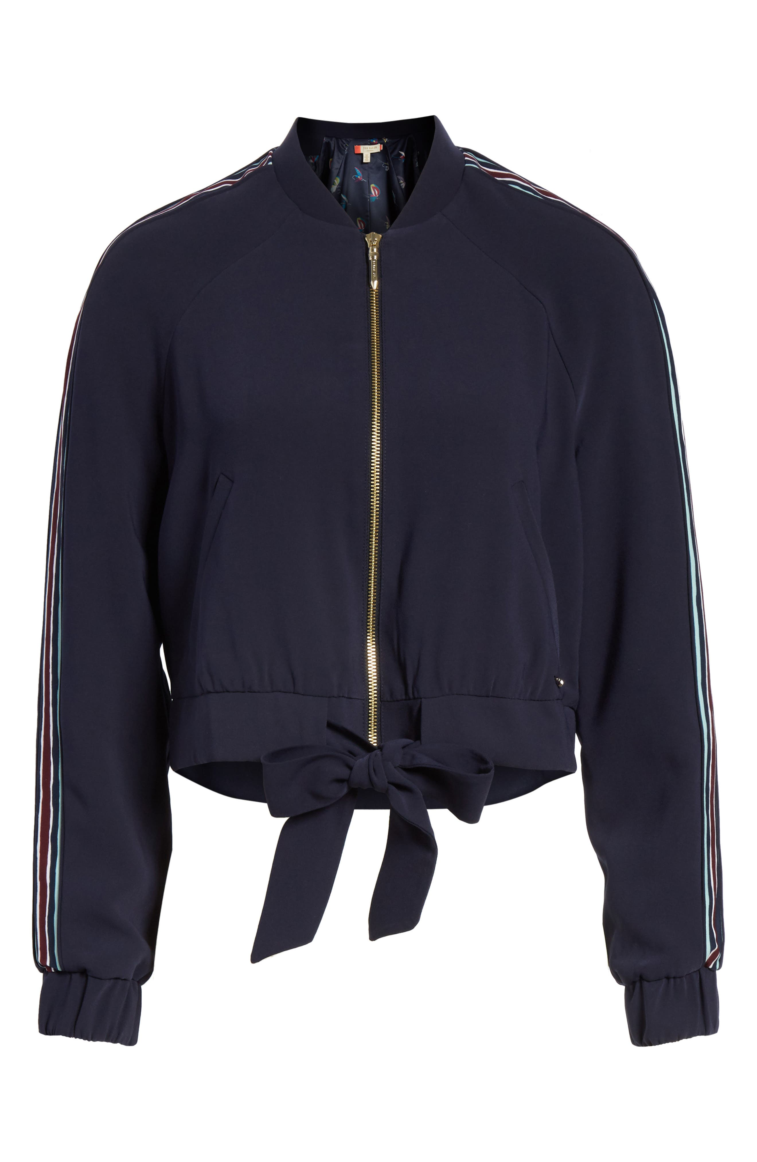 Colour by Numbers Imeelia Track Jacket,                             Alternate thumbnail 6, color,                             Navy