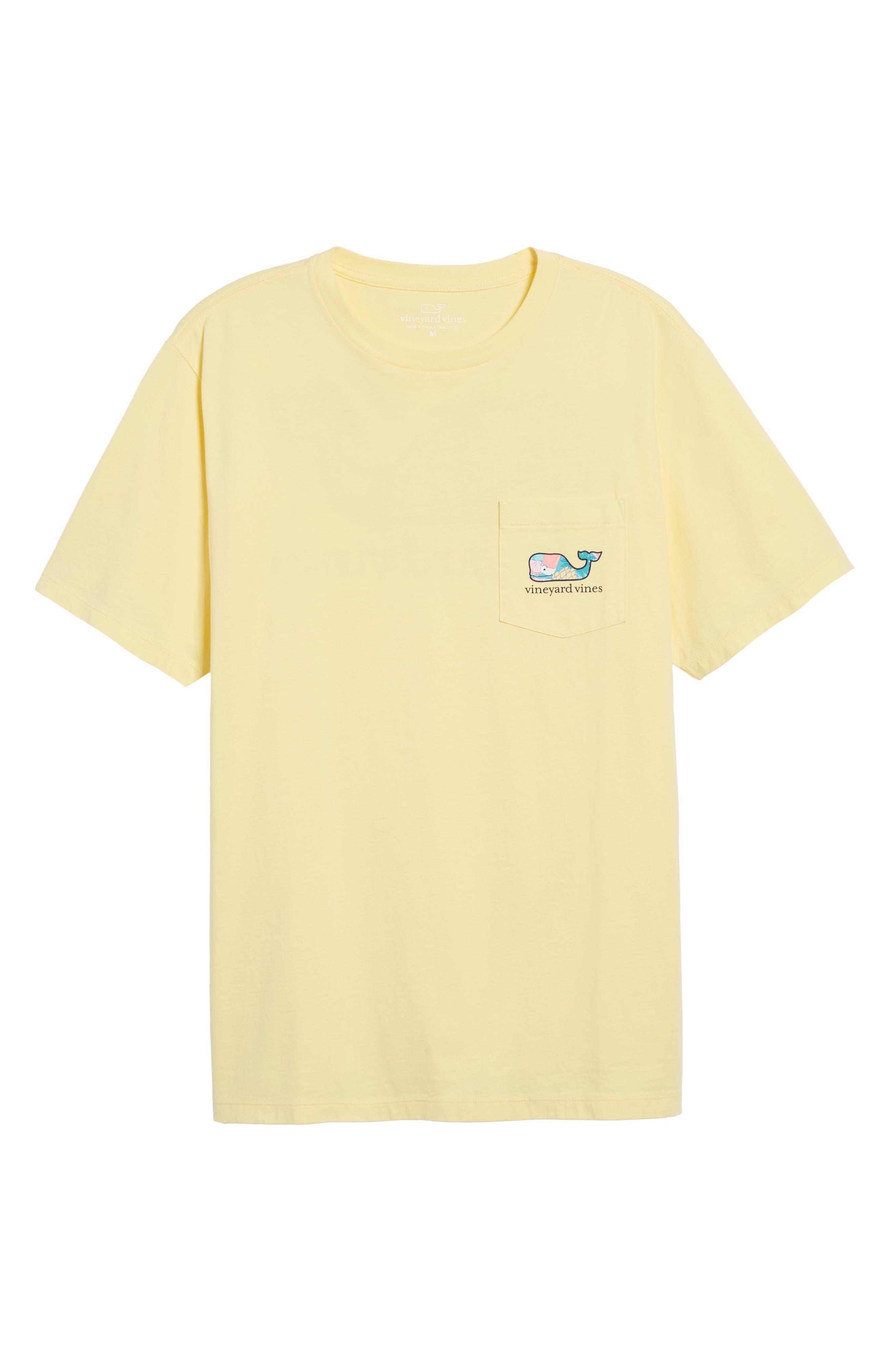 Bahama Mama Whale Pocket T-Shirt,                             Alternate thumbnail 6, color,                             Lemon Drop