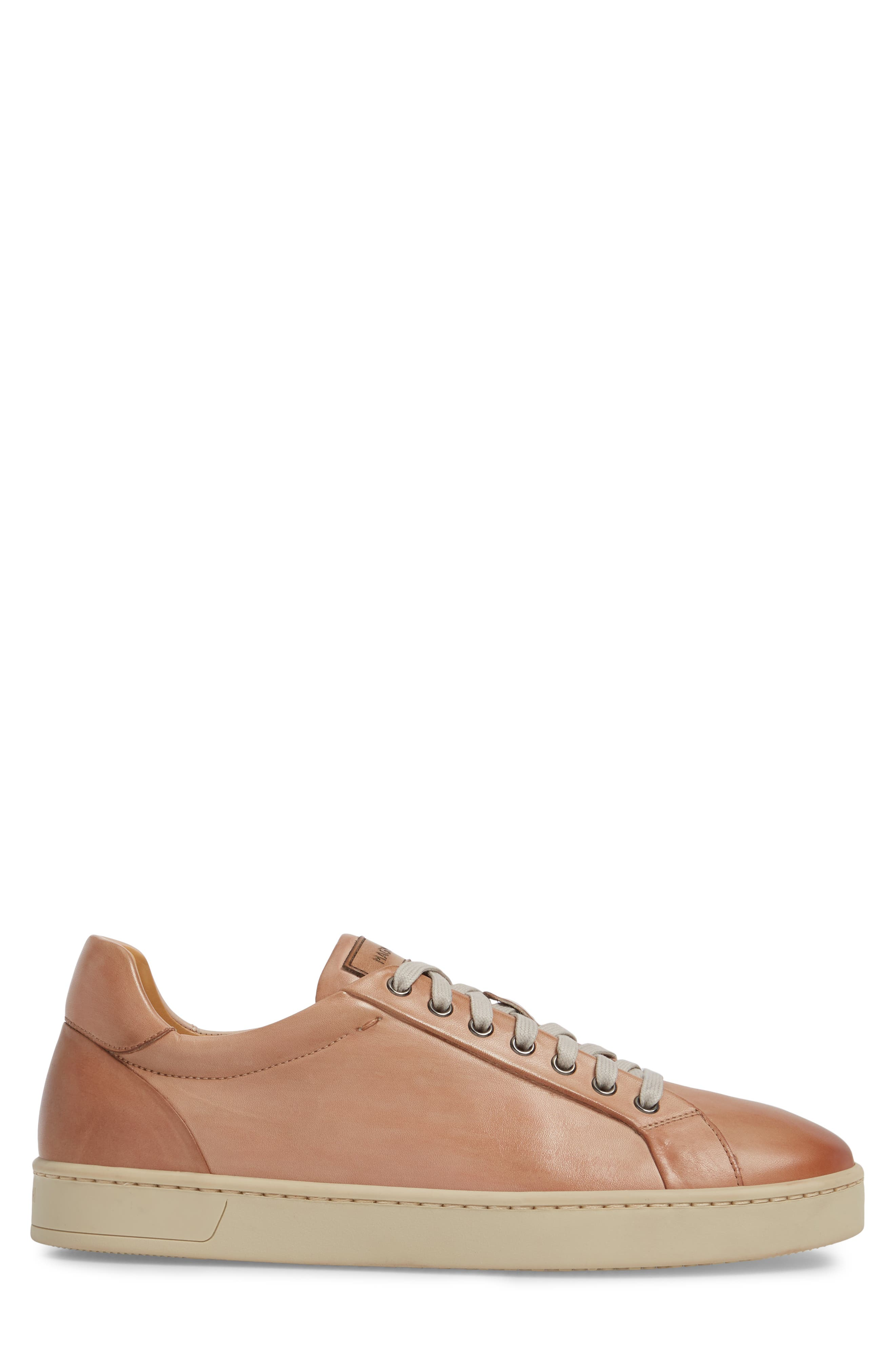 Elonso Low Top Sneaker,                             Alternate thumbnail 3, color,                             Rosa Leather