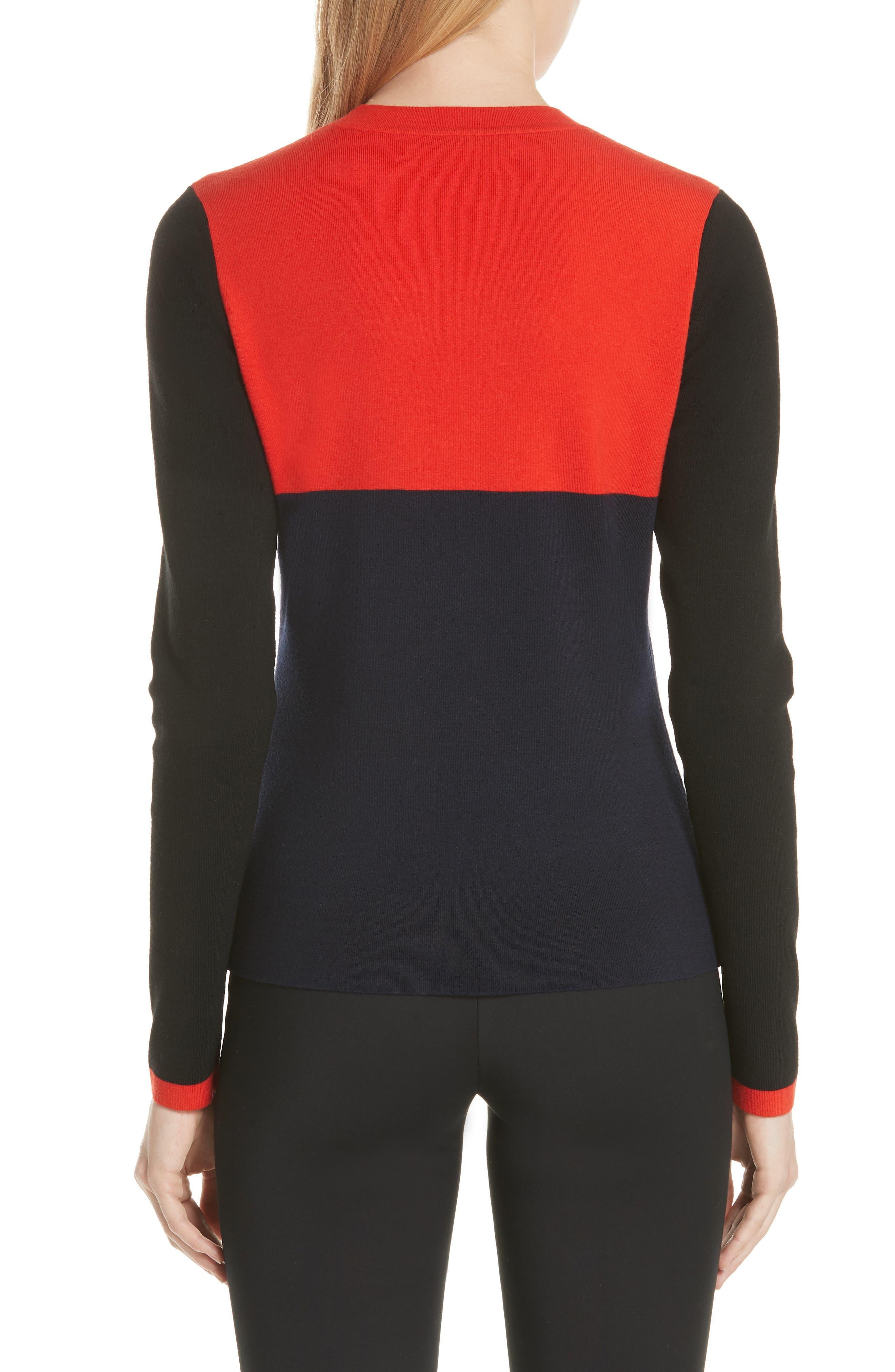 Diane von Furstenberg Star Sweater,                             Alternate thumbnail 2, color,                             Poppy Multi