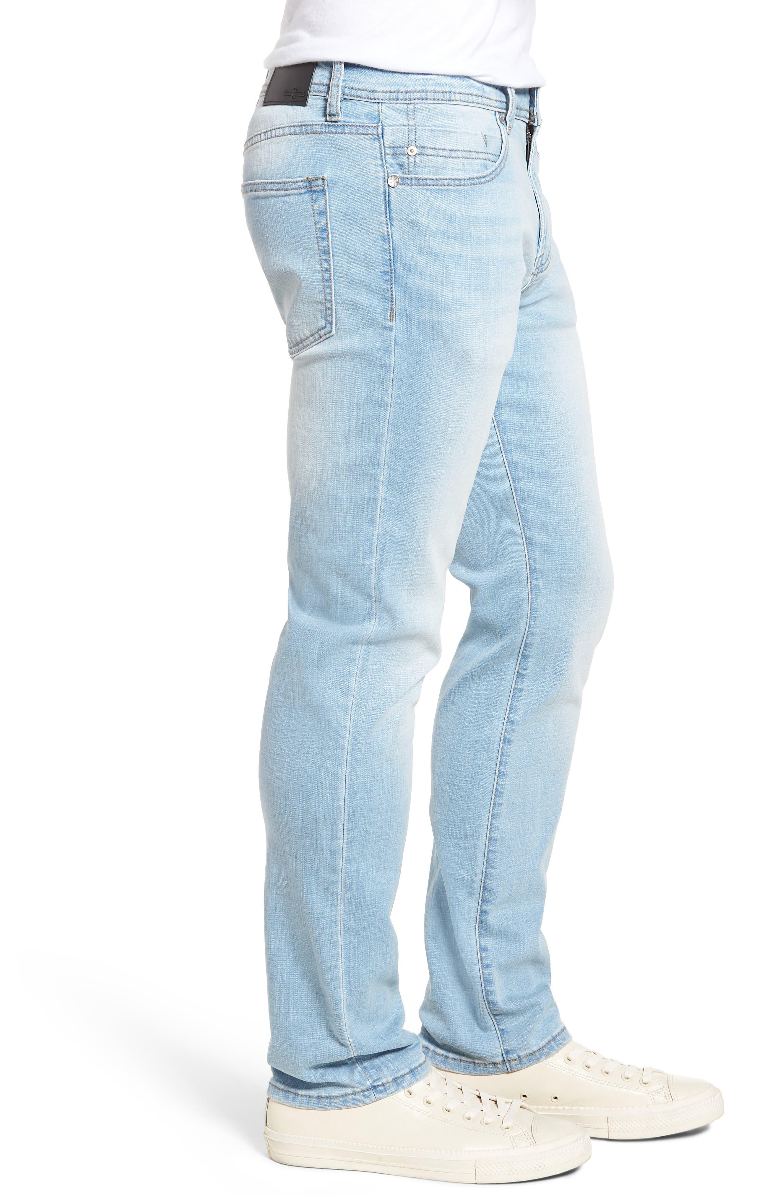 Jeans Co. Straight Leg Jeans,                             Alternate thumbnail 3, color,                             Riverside Light
