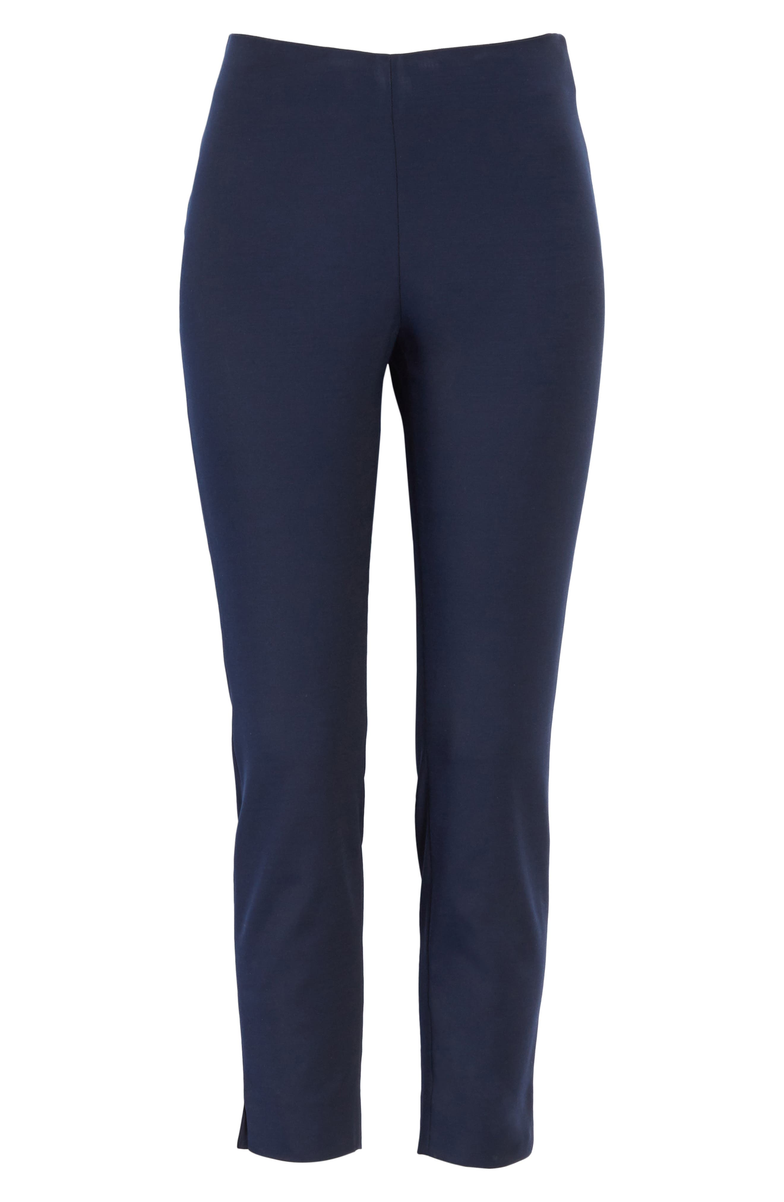 Side Zip Skinny Pants,                             Alternate thumbnail 6, color,                             Dark Blue