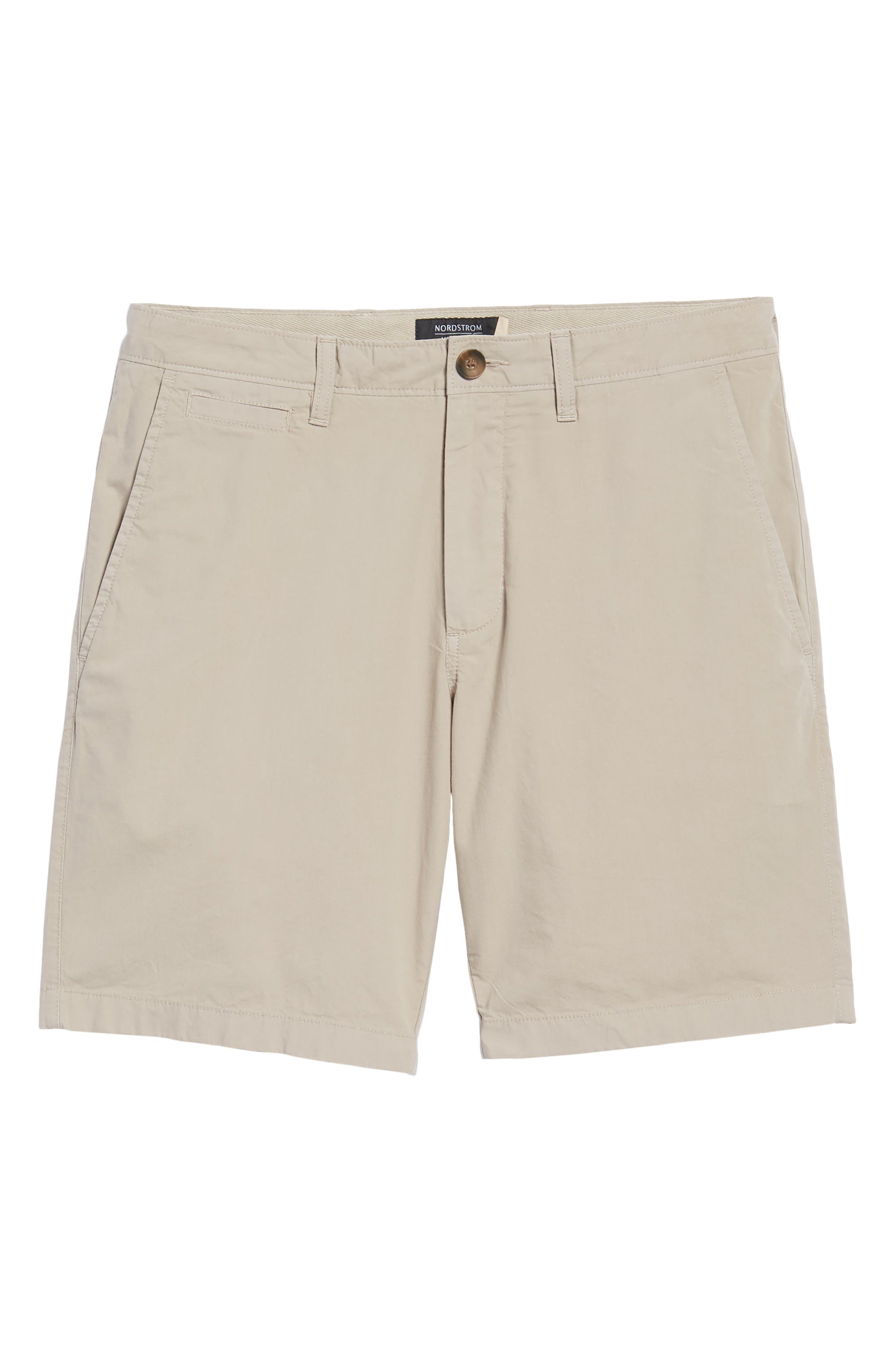 Stretch Poplin Shorts,                             Alternate thumbnail 6, color,                             Tan Thread