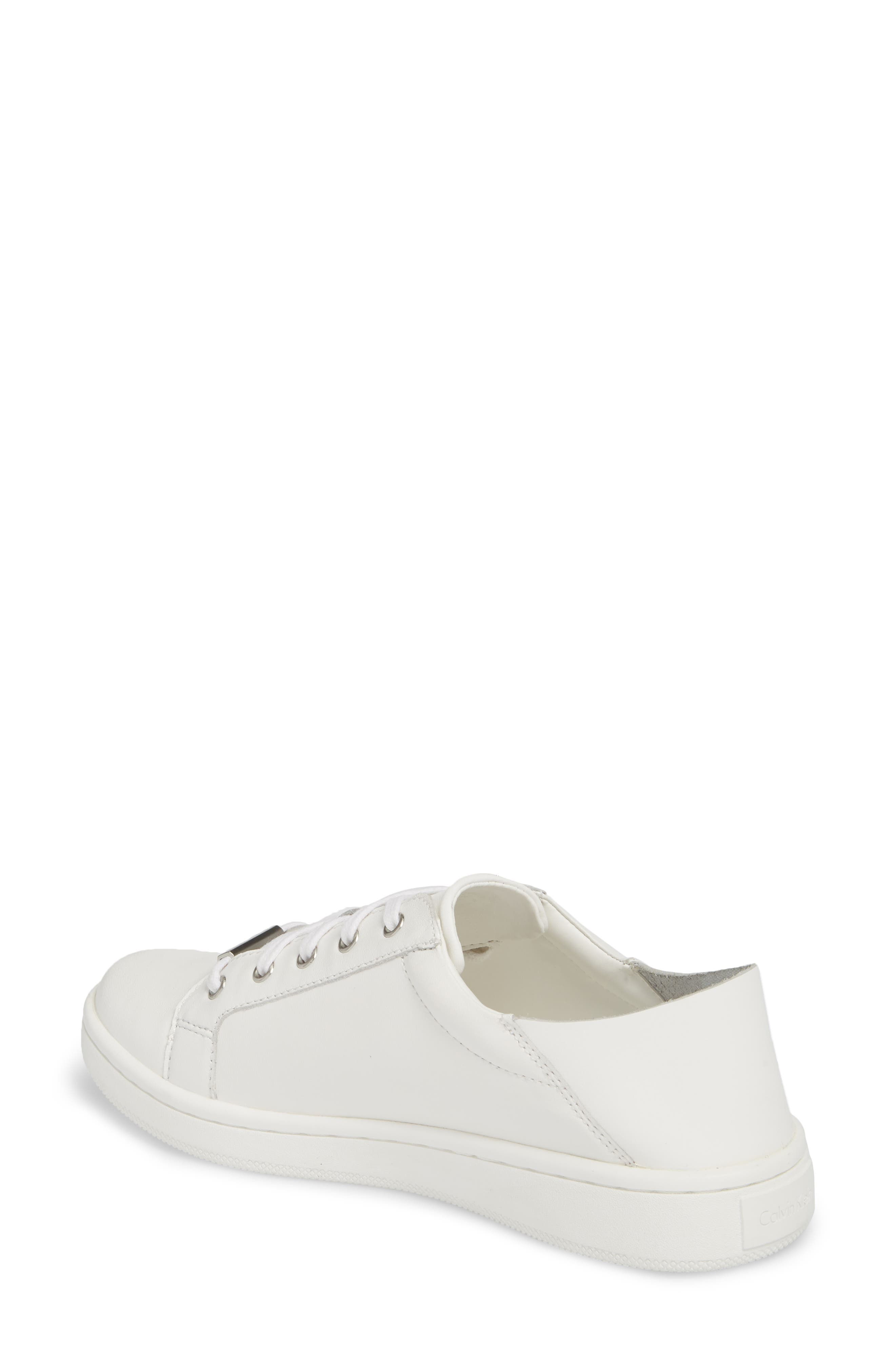 Danica Convertible Sneaker,                             Alternate thumbnail 2, color,                             White/ White Leather