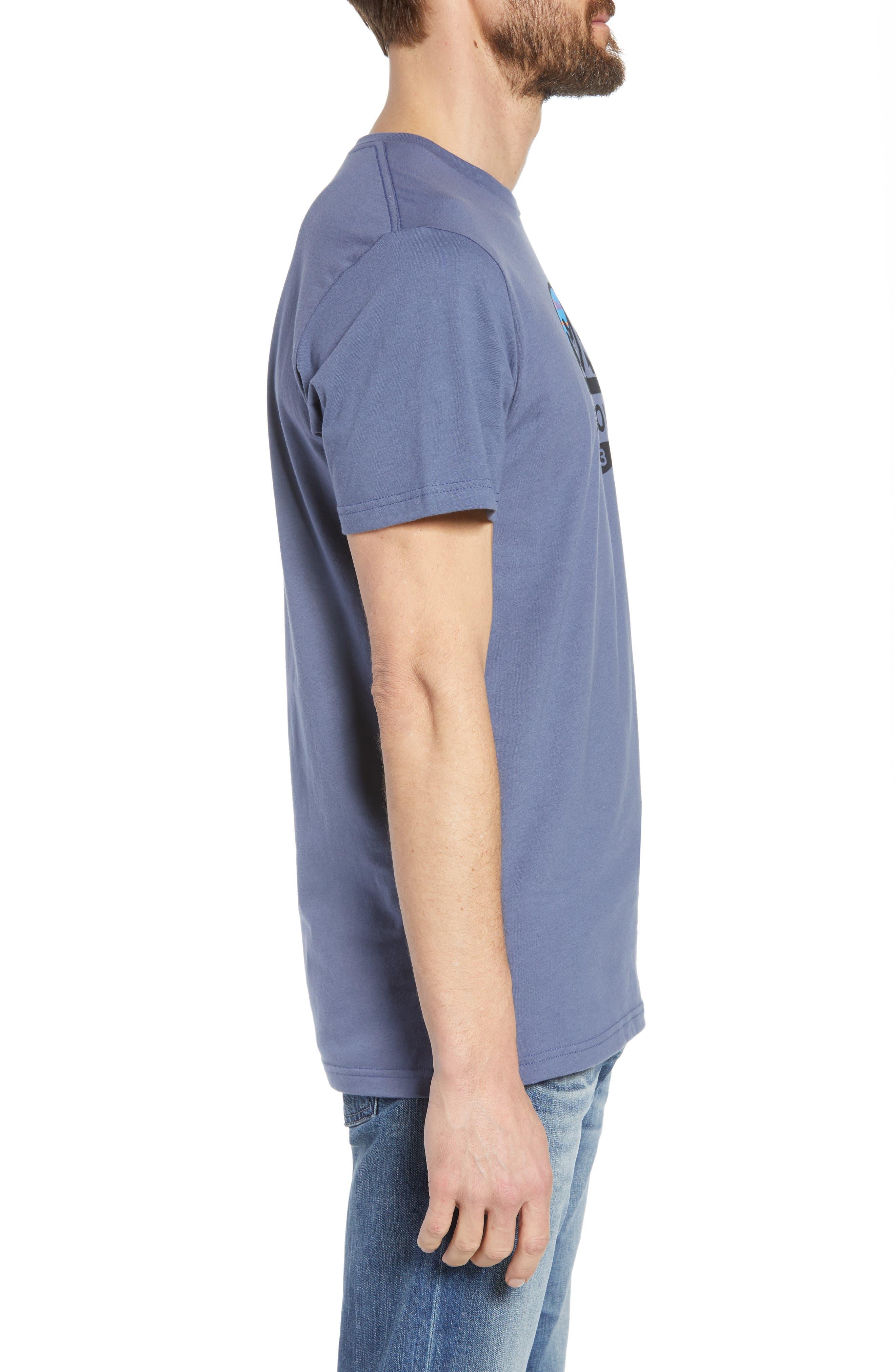 Fitz Roy Scope Crewneck T-Shirt,                             Alternate thumbnail 3, color,                             Dolomite Blue