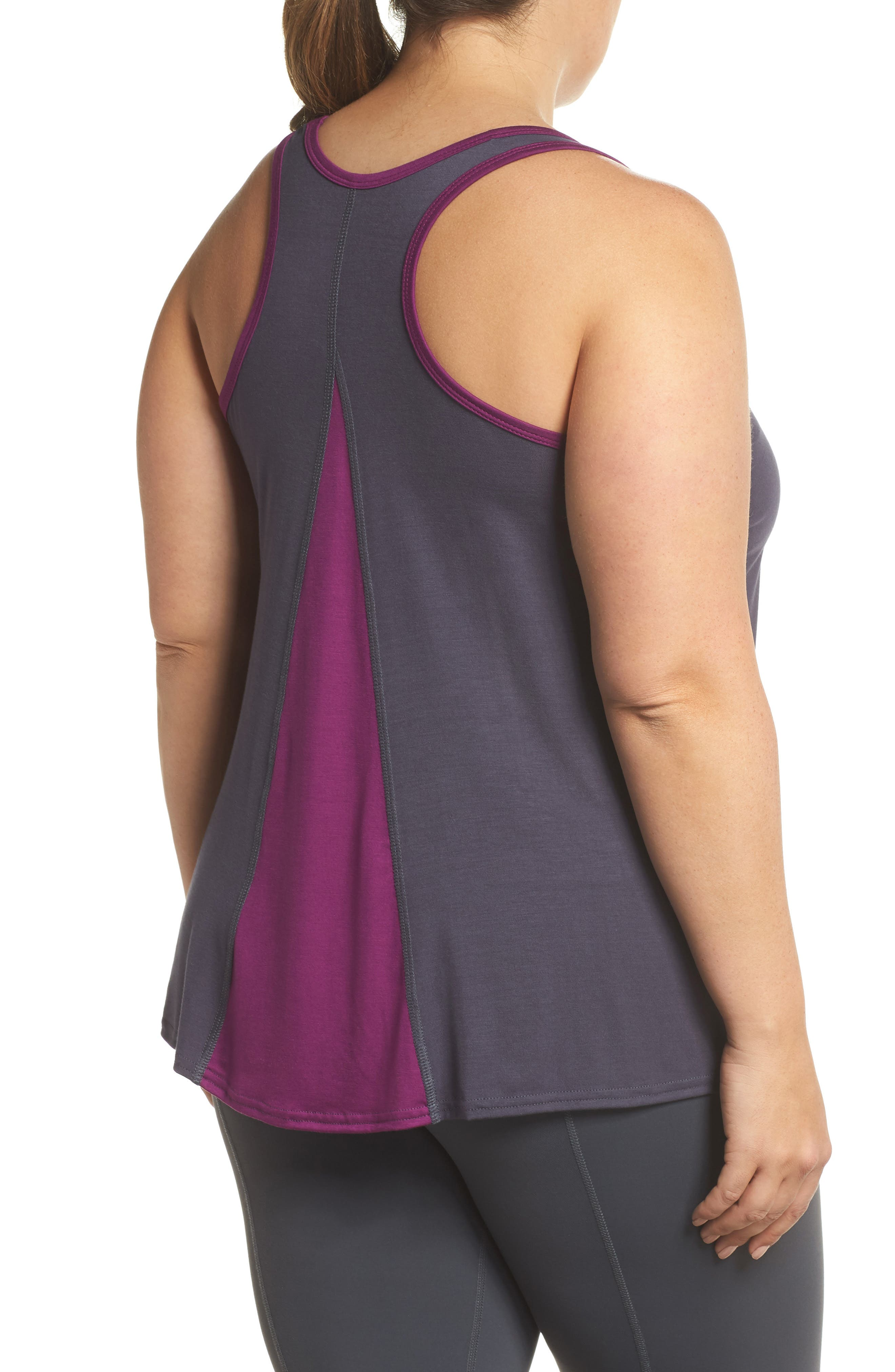 Easy Tank,                             Alternate thumbnail 2, color,                             Charcoal/ Plum