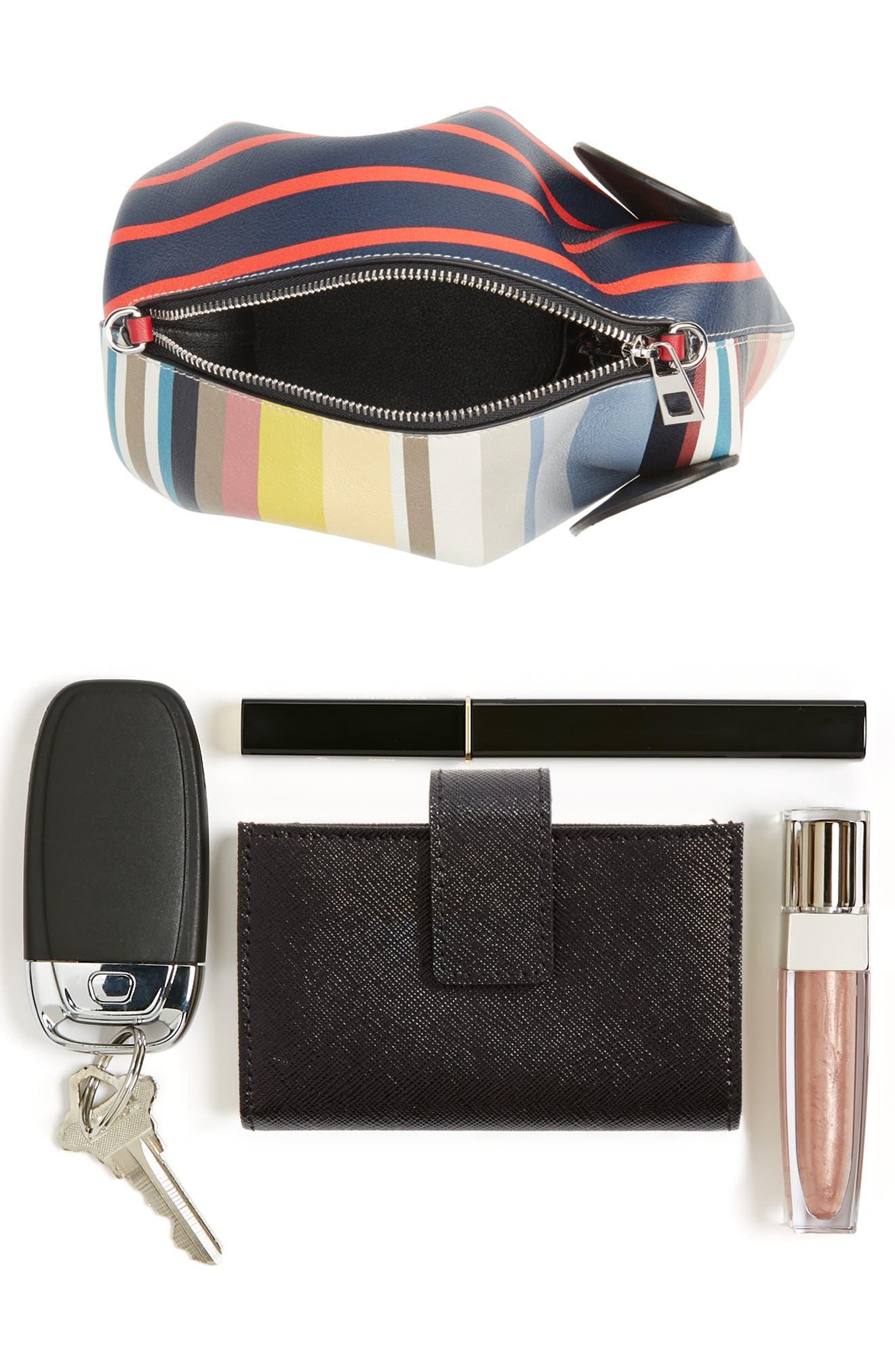Mini Elephant Calfskin Leather Crossbody Bag,                             Alternate thumbnail 7, color,