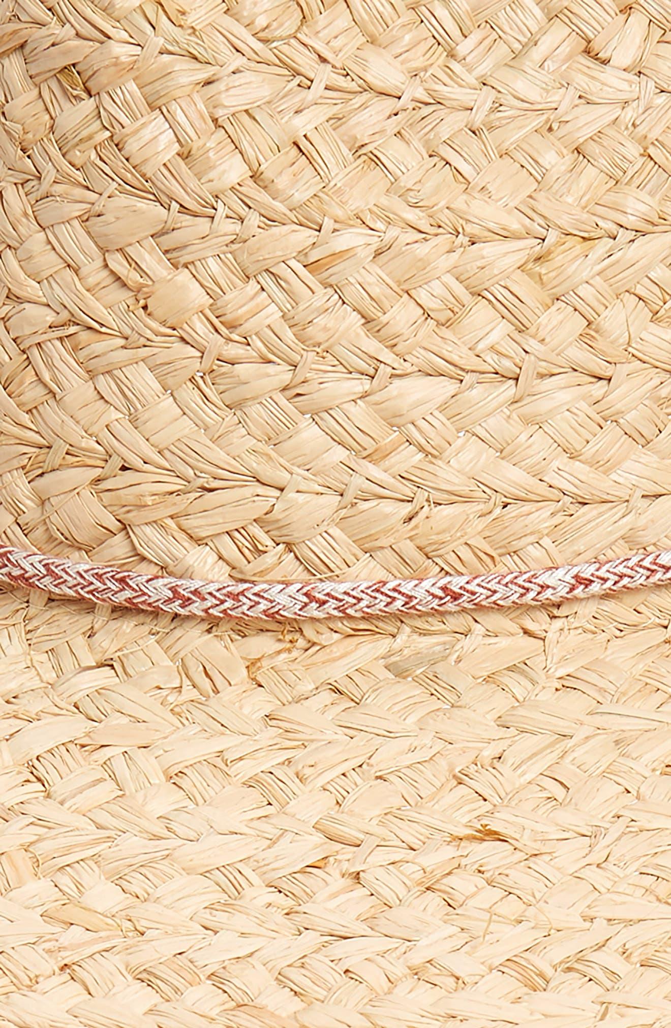 x Biltmore Maya Braided Straw Fedora,                             Alternate thumbnail 2, color,                             Natural Raffia