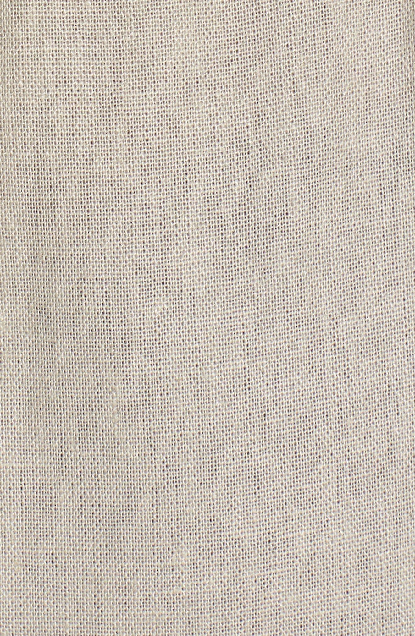 Tie Waist Crop Jumpsuit,                             Alternate thumbnail 6, color,                             Beige Morn Stripe