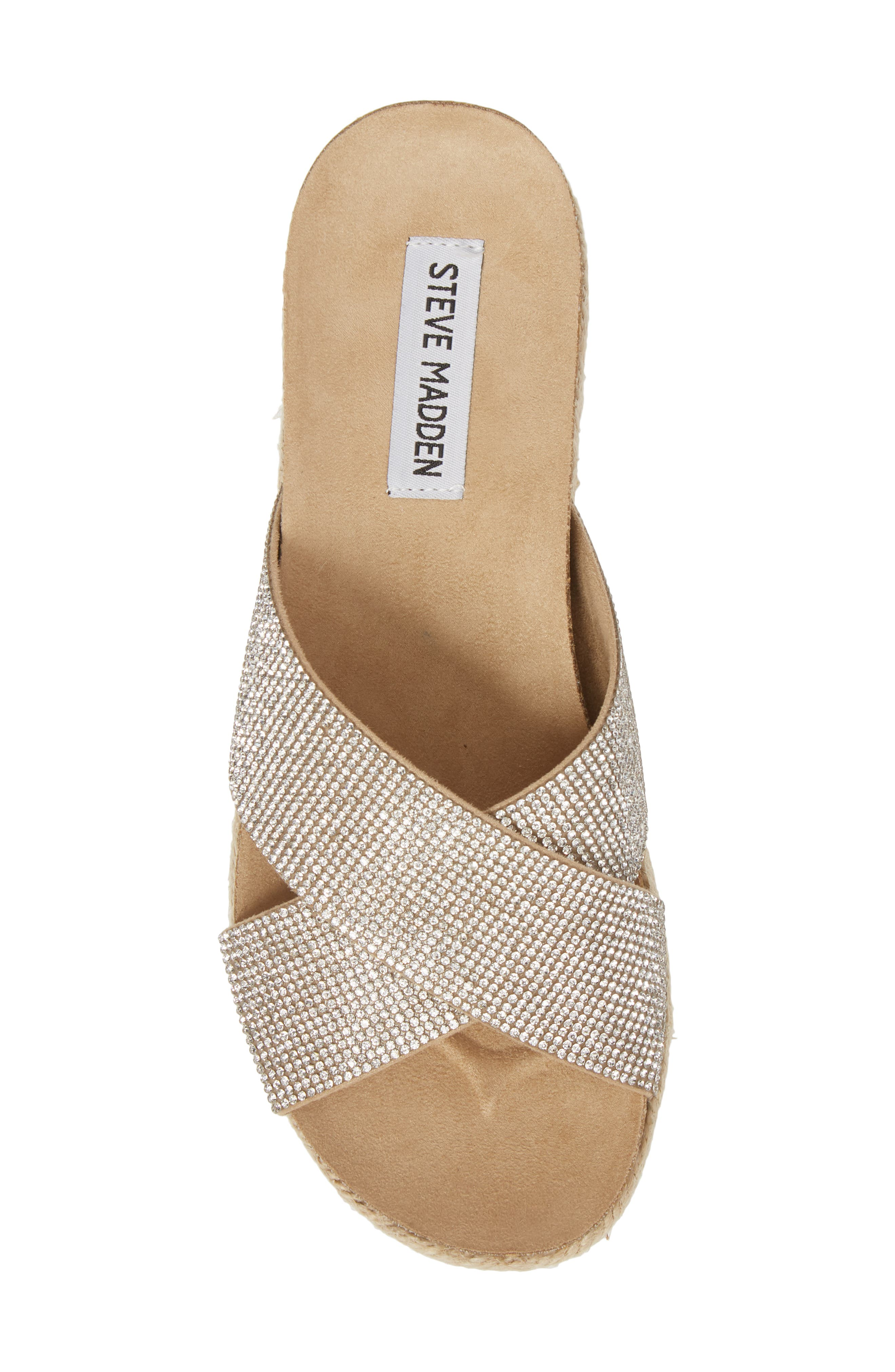 Arran-R Platform Espadrille Sandal,                             Alternate thumbnail 5, color,                             Silver