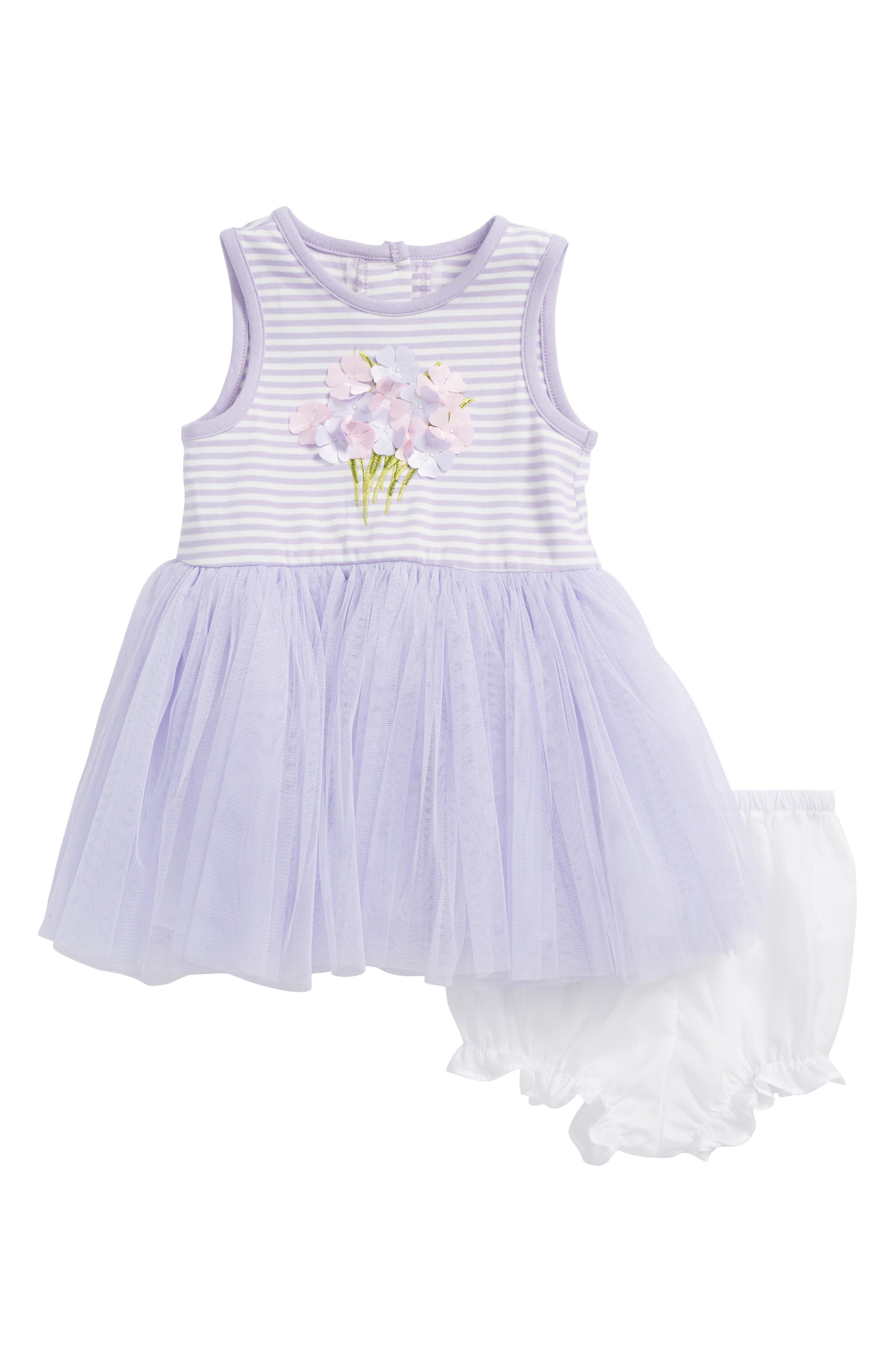 Bouquet Tutu Dress,                         Main,                         color, Lavender/ White