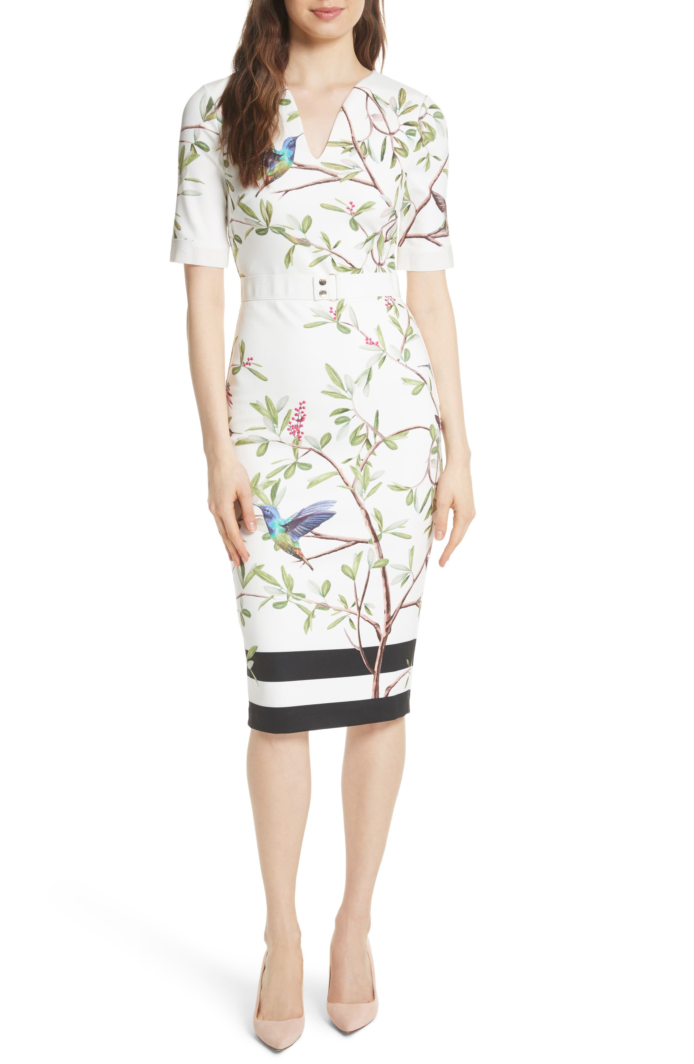 Highgrove Body-Con Dress,                             Main thumbnail 1, color,                             White