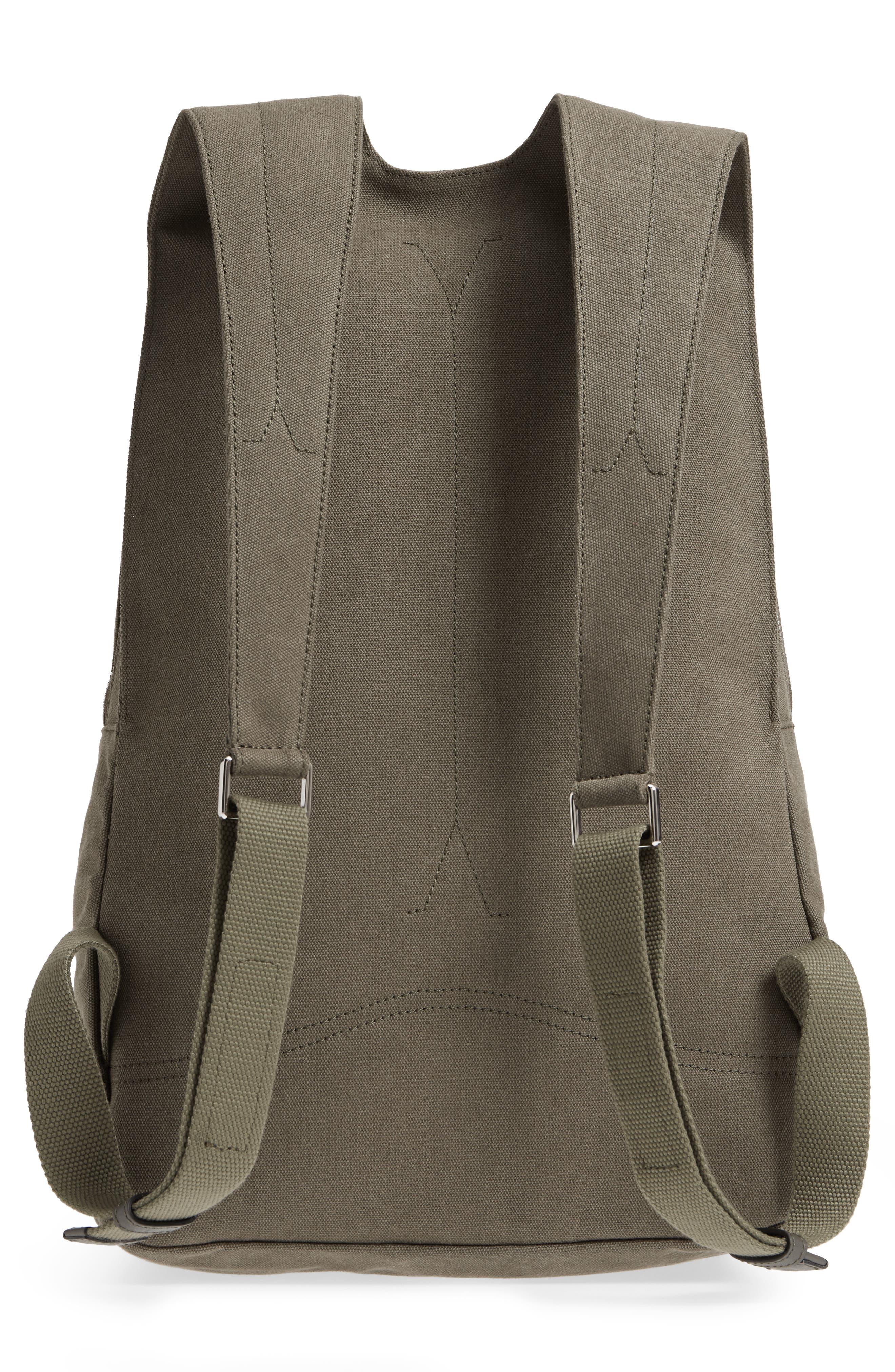 GARAVANI Canvas Military Backpack,                             Alternate thumbnail 3, color,                             L90 Olive