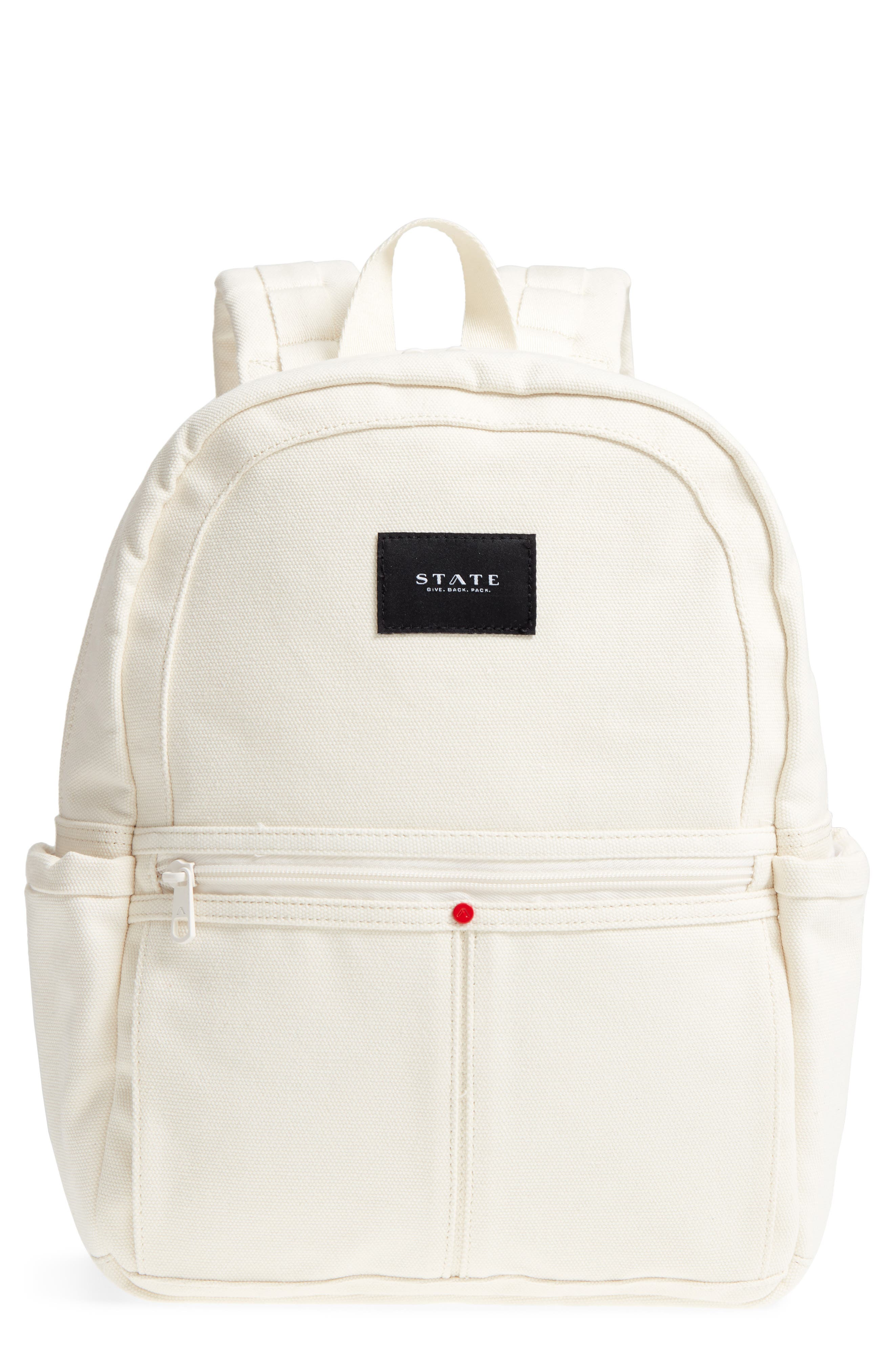 State KENSINGTON KANE CANVAS BACKPACK - IVORY