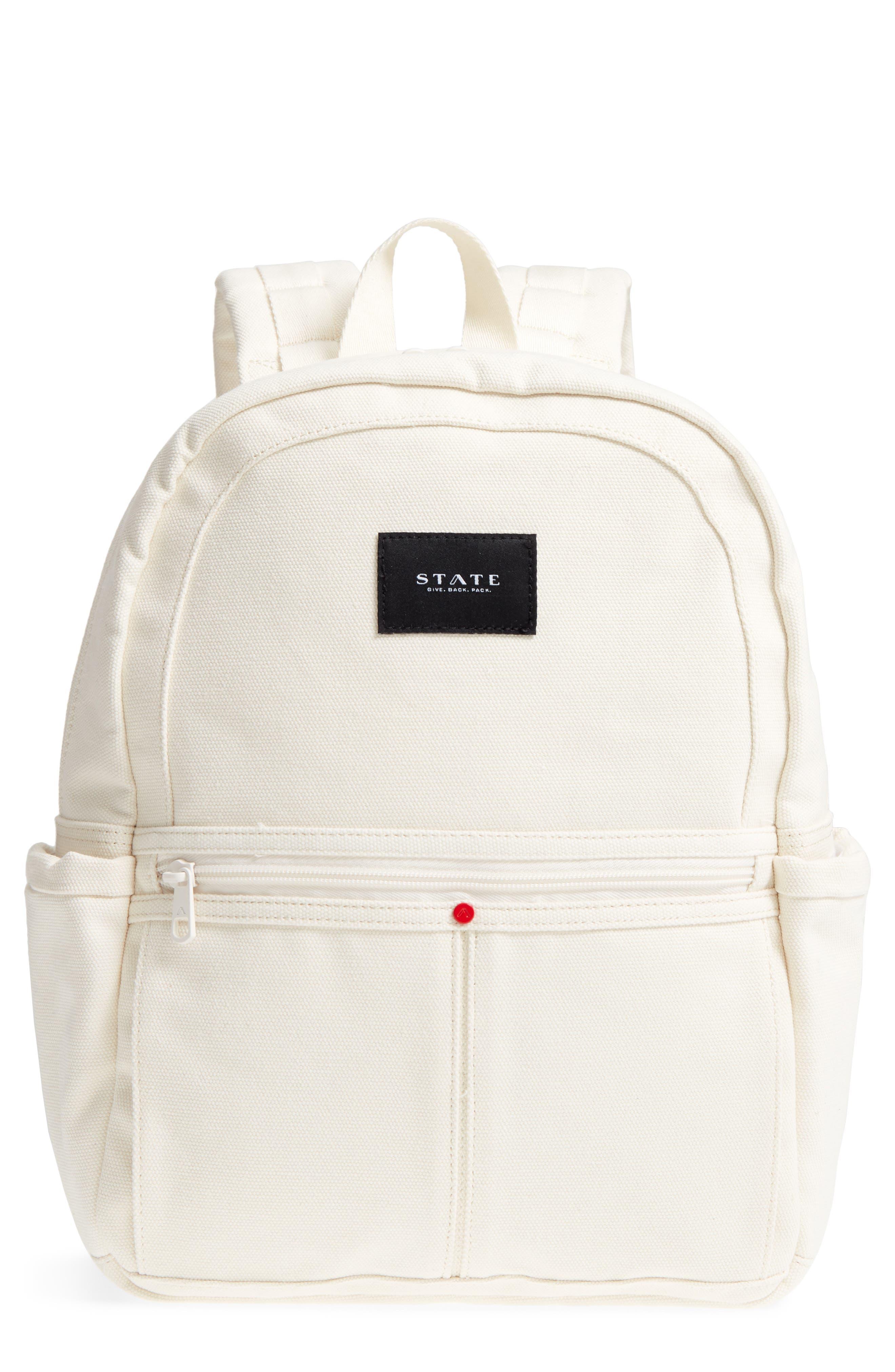 Kensington Kane Canvas Backpack,                         Main,                         color, Natural