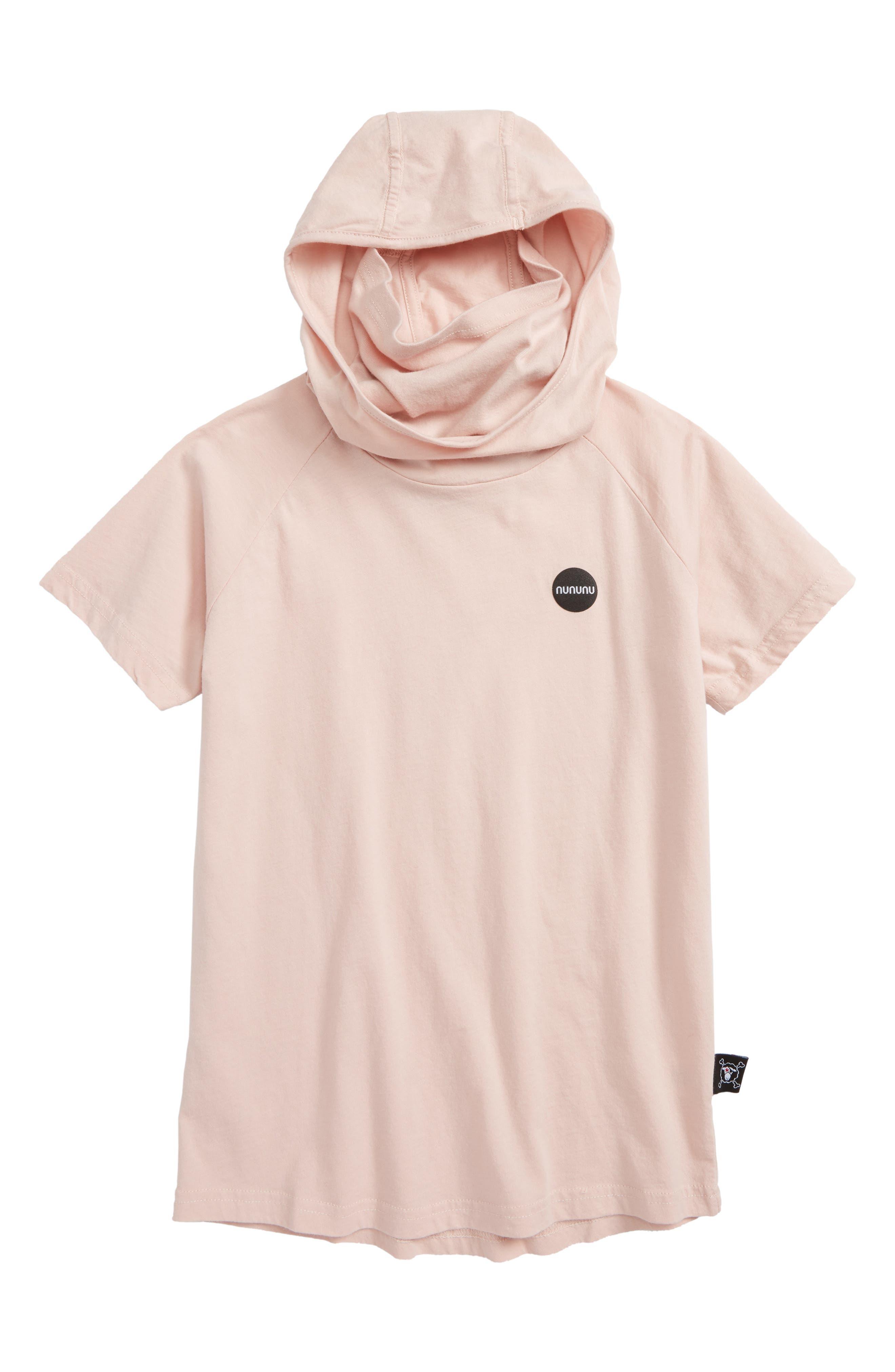 Ninja Hooded T-Shirt,                             Main thumbnail 1, color,                             Powder Pink