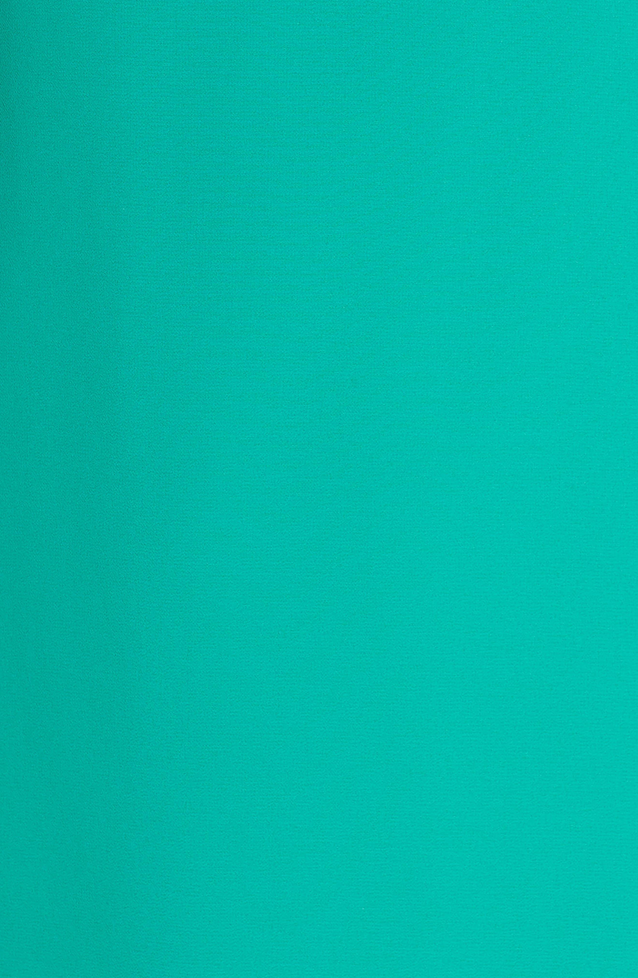 Soufflé Ruffle Chiffon Shift Dress,                             Alternate thumbnail 6, color,                             Green