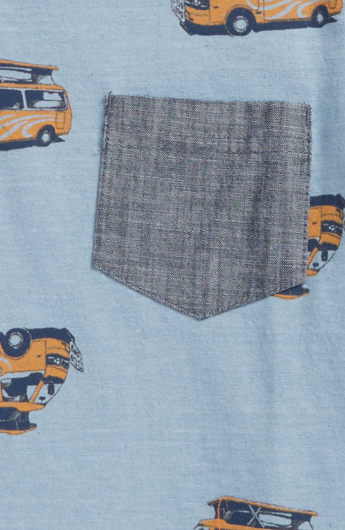 Print Shirt,                             Alternate thumbnail 2, color,                             Blue Chambray Caravan