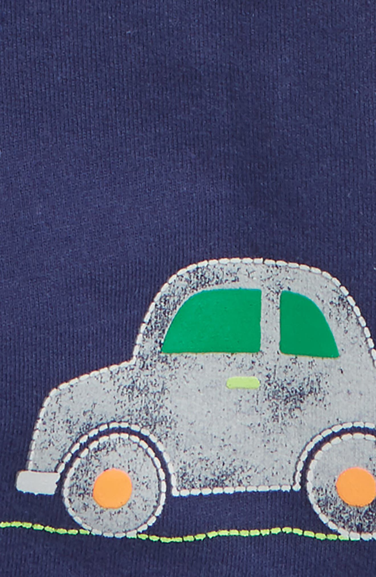 Car Print T-Shirt & Overalls Set,                             Alternate thumbnail 2, color,                             Navy