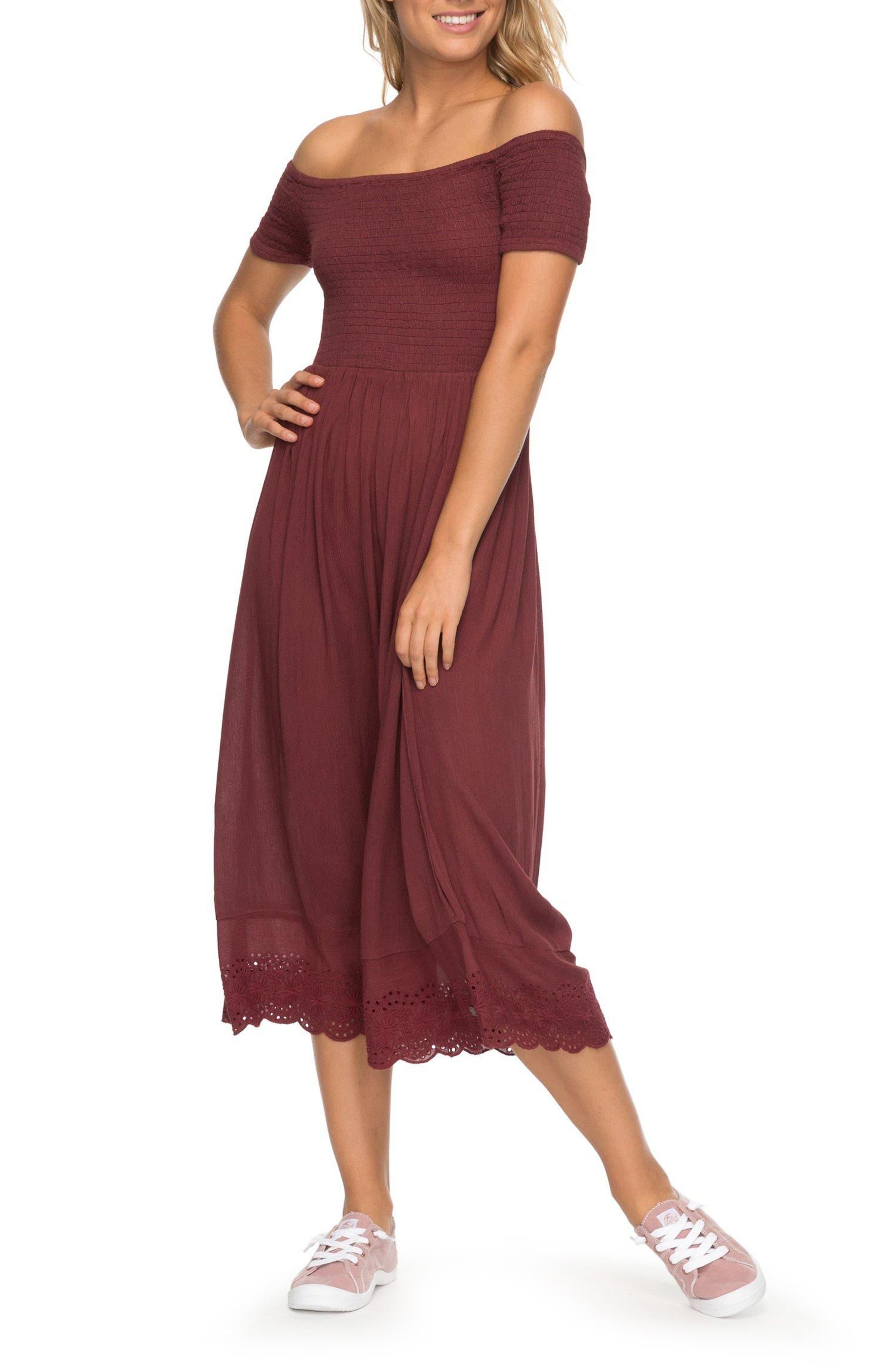 Main Image - Roxy Pretty Lovers Off the Shoulder Midi Dress