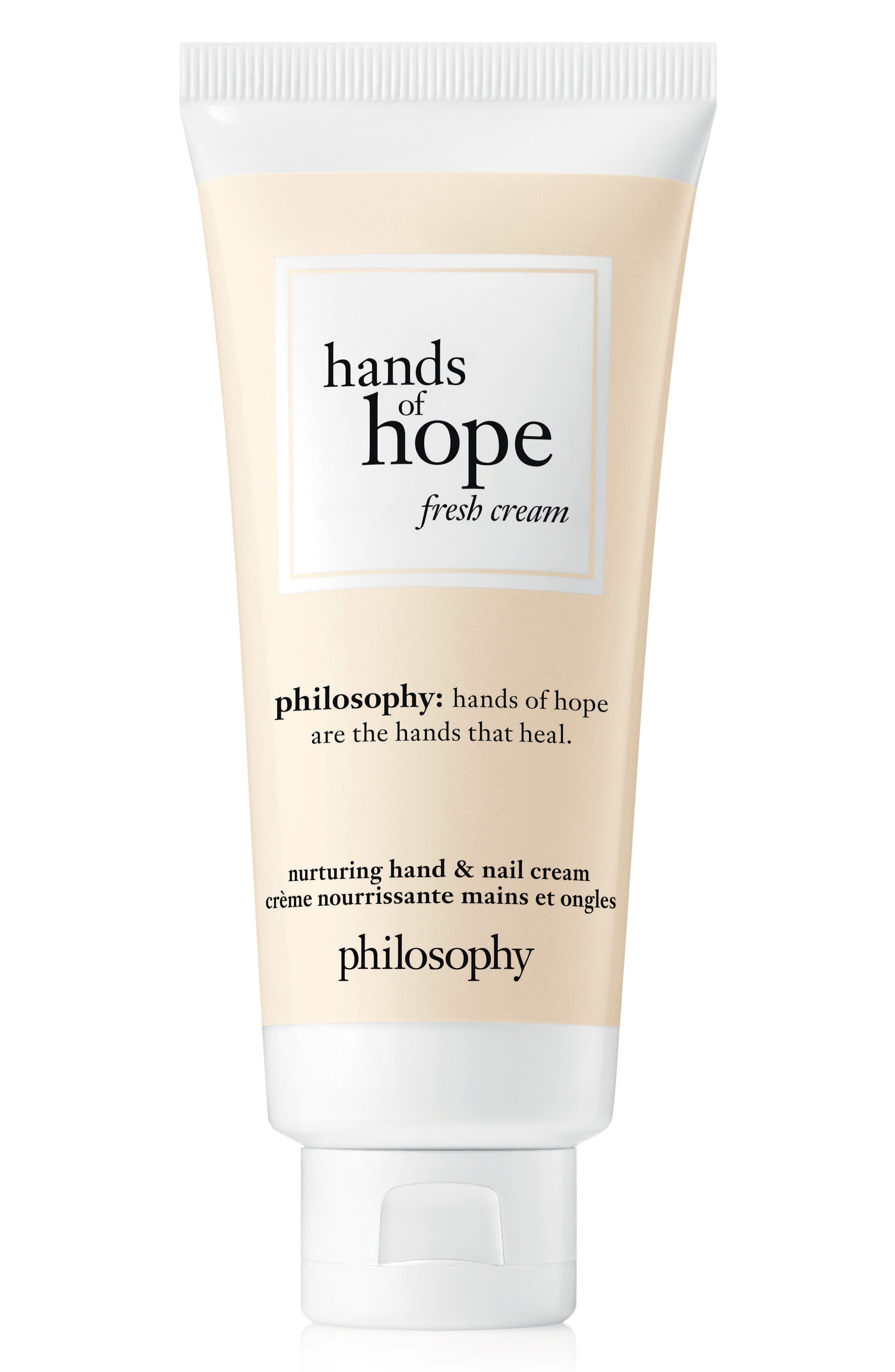 nurturing hand & nail cream,                         Main,                         color, Fresh Cream