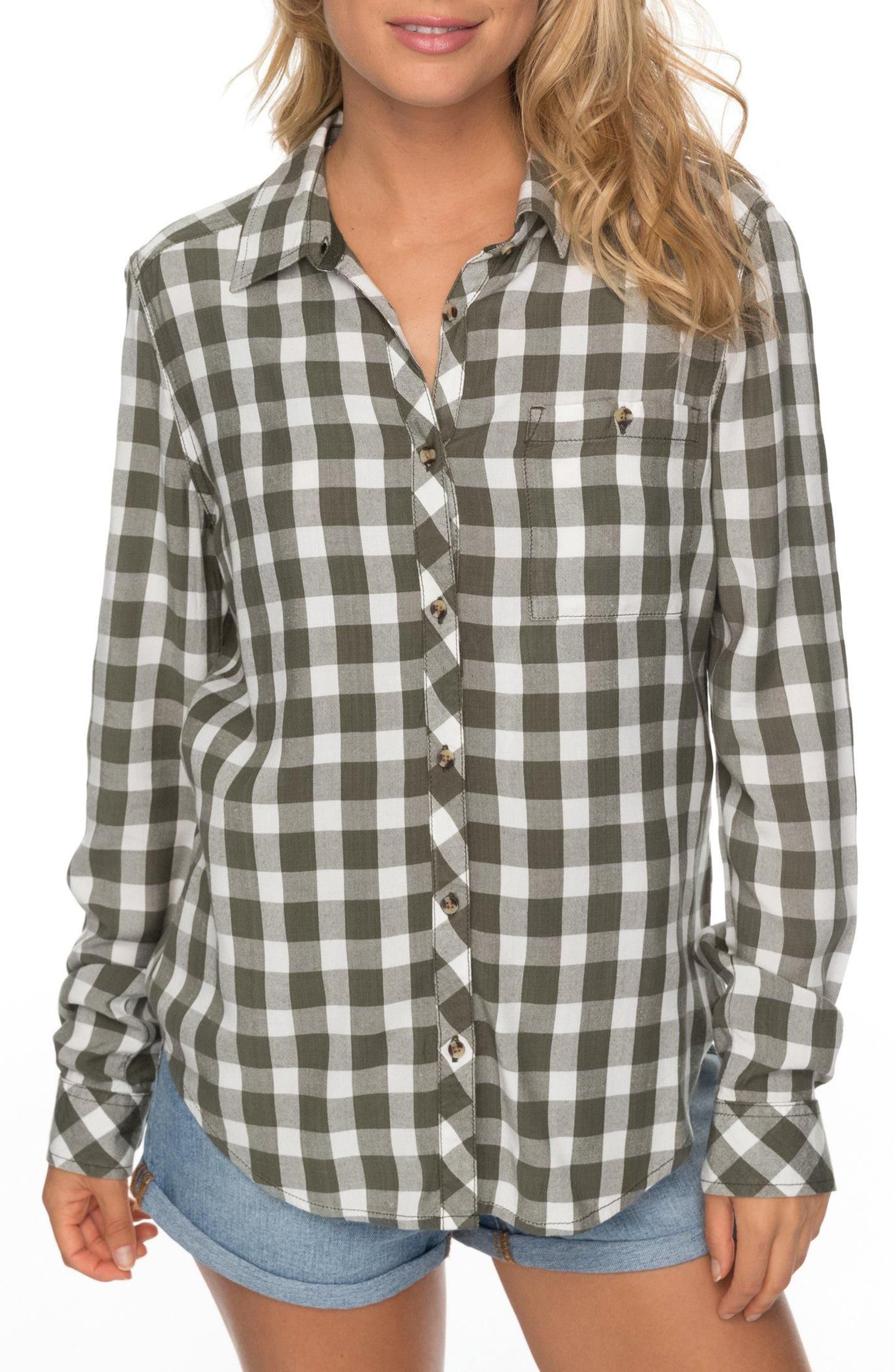 Capital Dream Check Shirt,                         Main,                         color, Thyme Northy Plaid