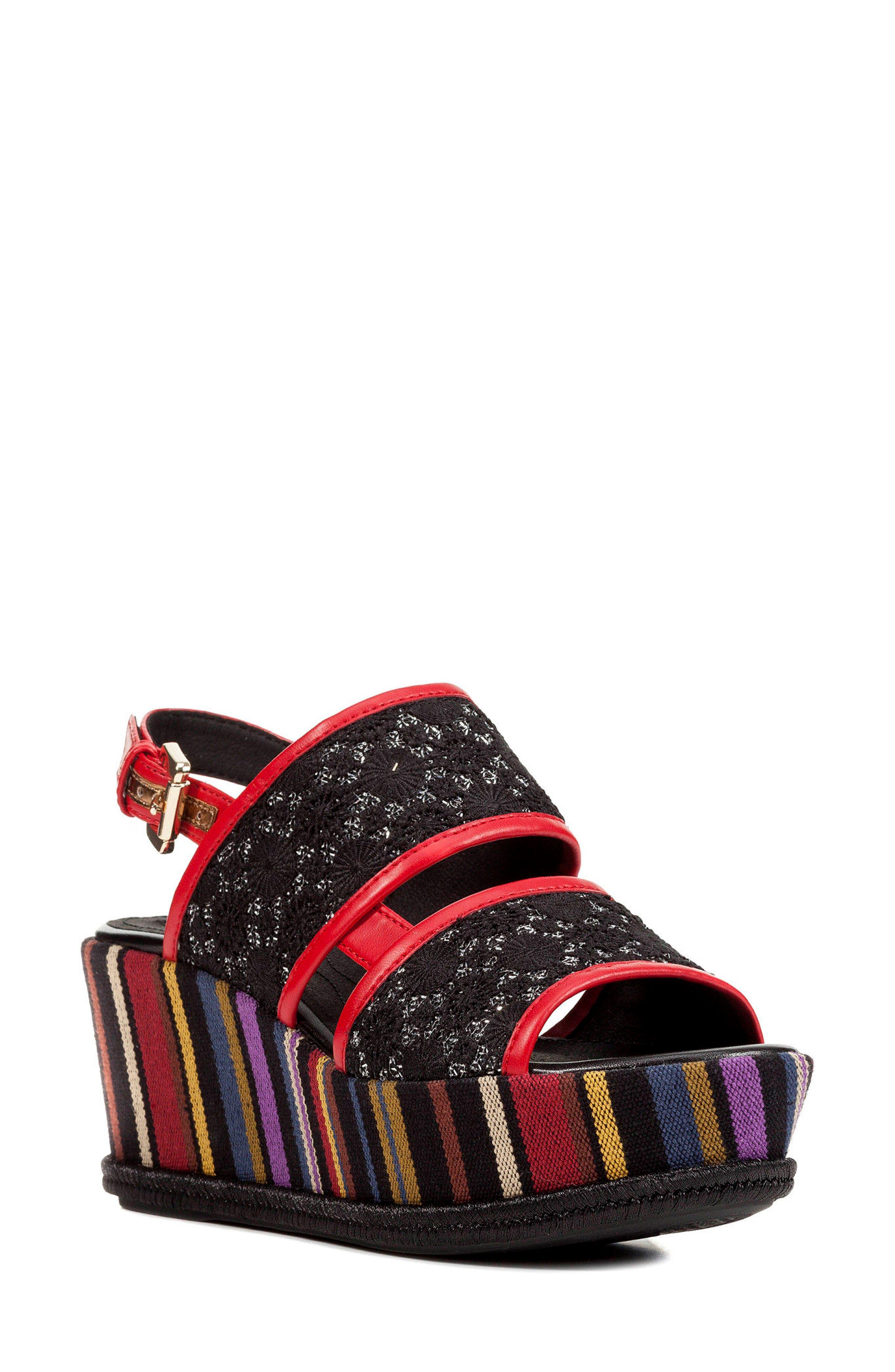 Geox Sakely Platform Wedge Sandal (Women)