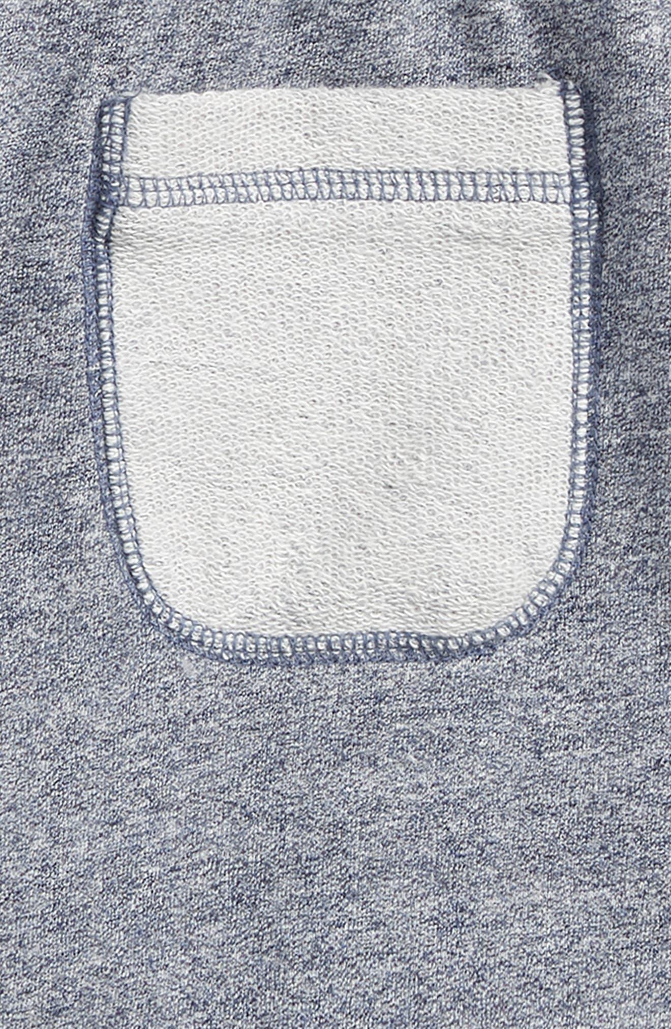 Fleece Shorts,                             Alternate thumbnail 3, color,                             Navy Denim