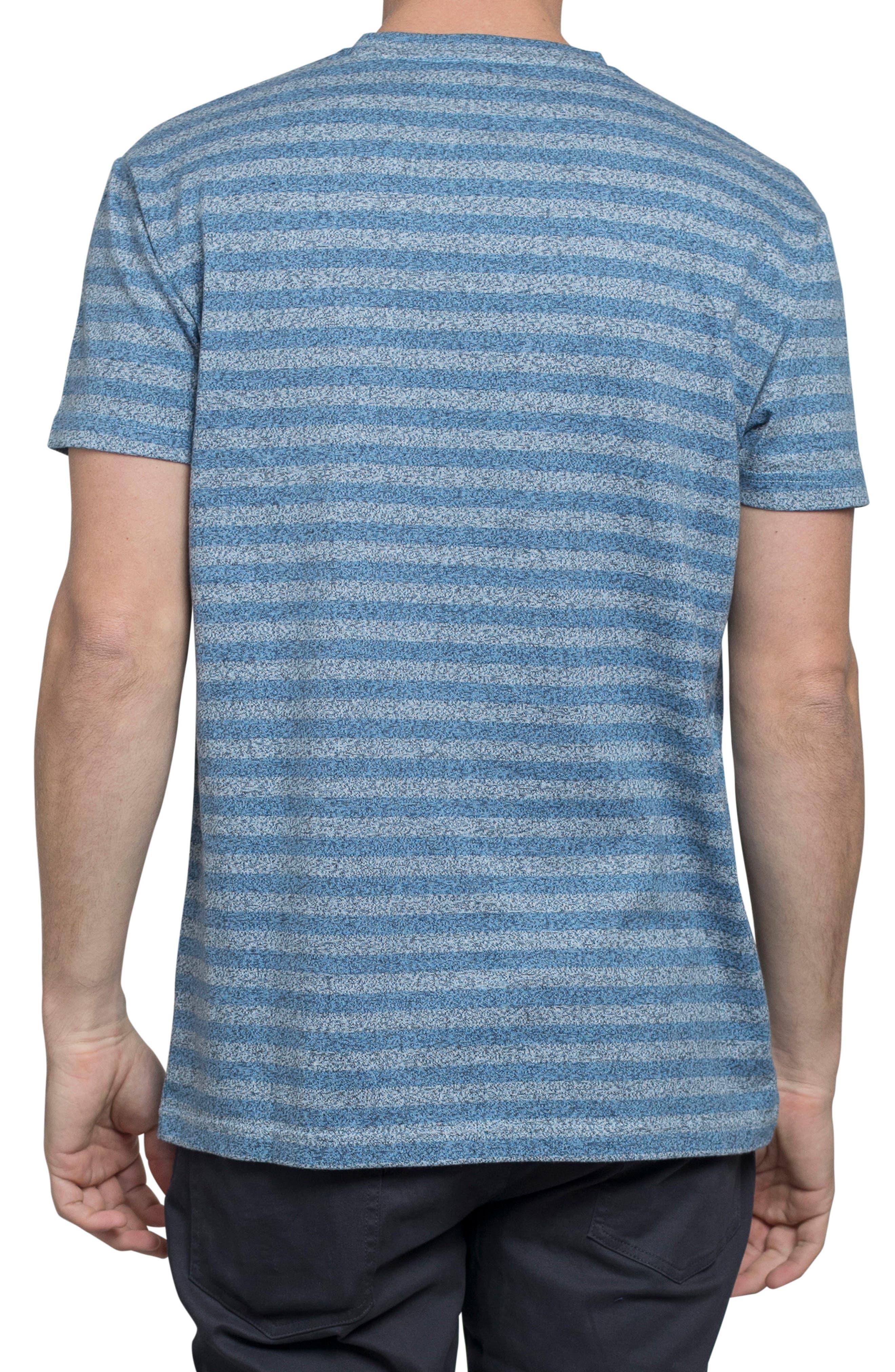 Stripe Crewneck T-Shirt,                             Alternate thumbnail 2, color,                             Off White