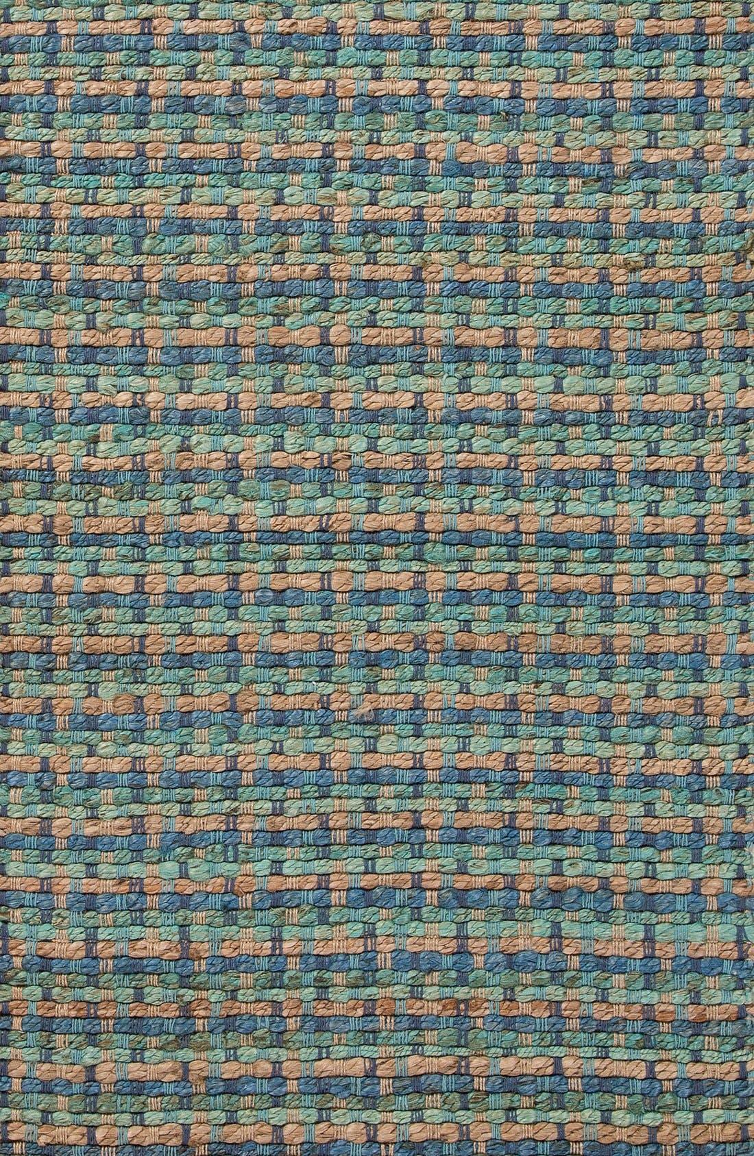 'Manchester' Jute & Cotton Accent Rug,                             Alternate thumbnail 3, color,                             Blue/ Taupe