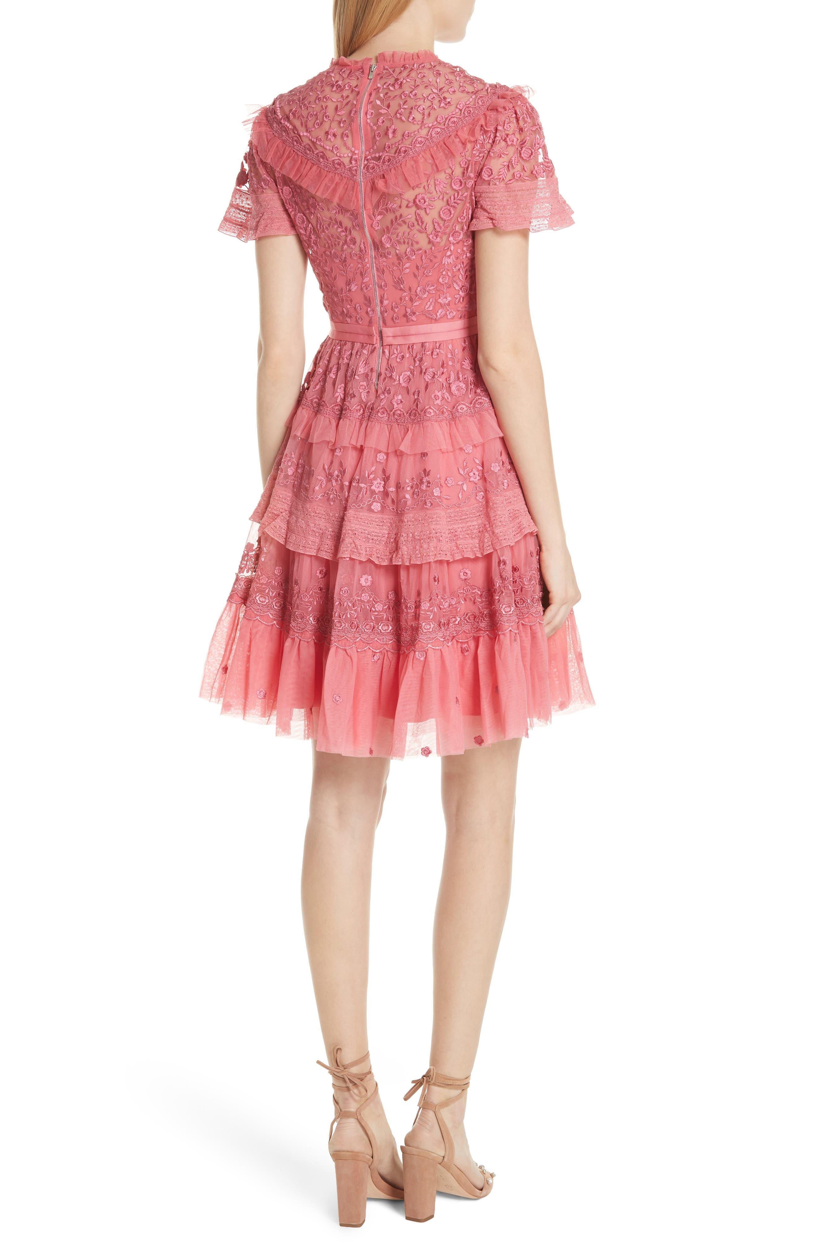 Iris Fit & Flare Dress,                             Alternate thumbnail 2, color,                             Hot Pink