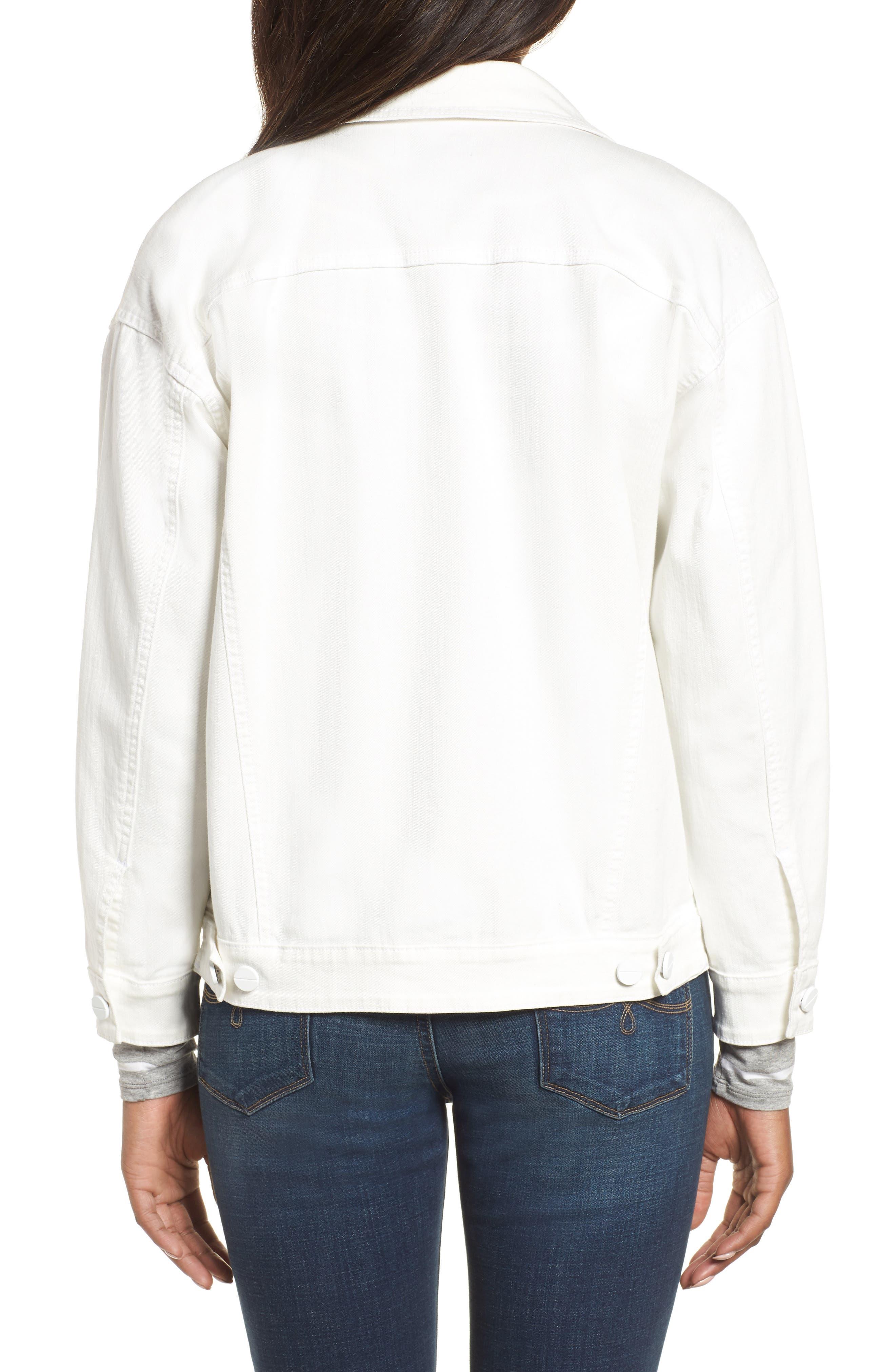 Relaxed White Denim Jacket,                             Alternate thumbnail 2, color,                             White