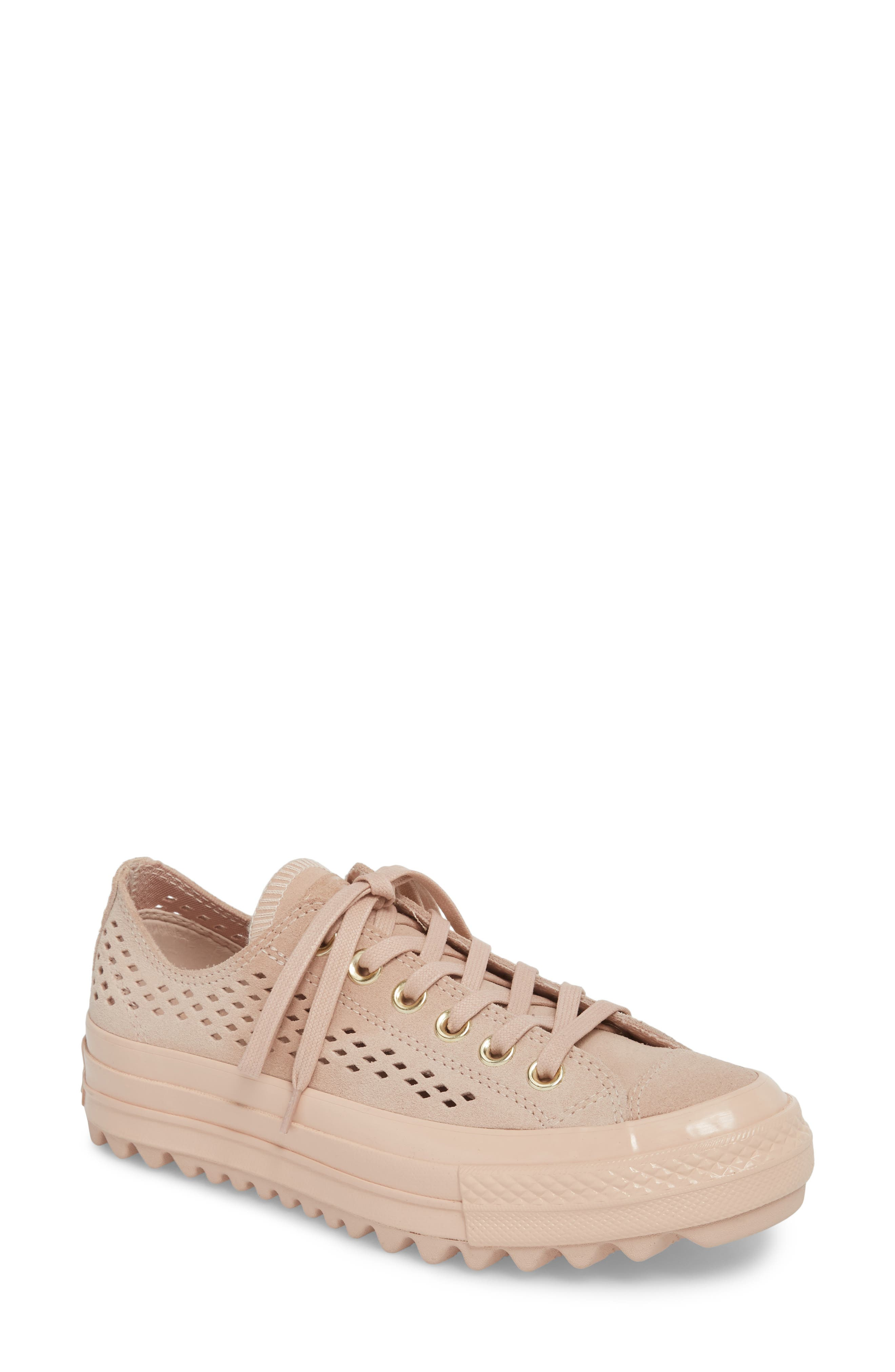 Chuck Taylor<sup>®</sup> All Star<sup>®</sup> Lift Ripple Sneaker,                         Main,                         color, Particle Beige