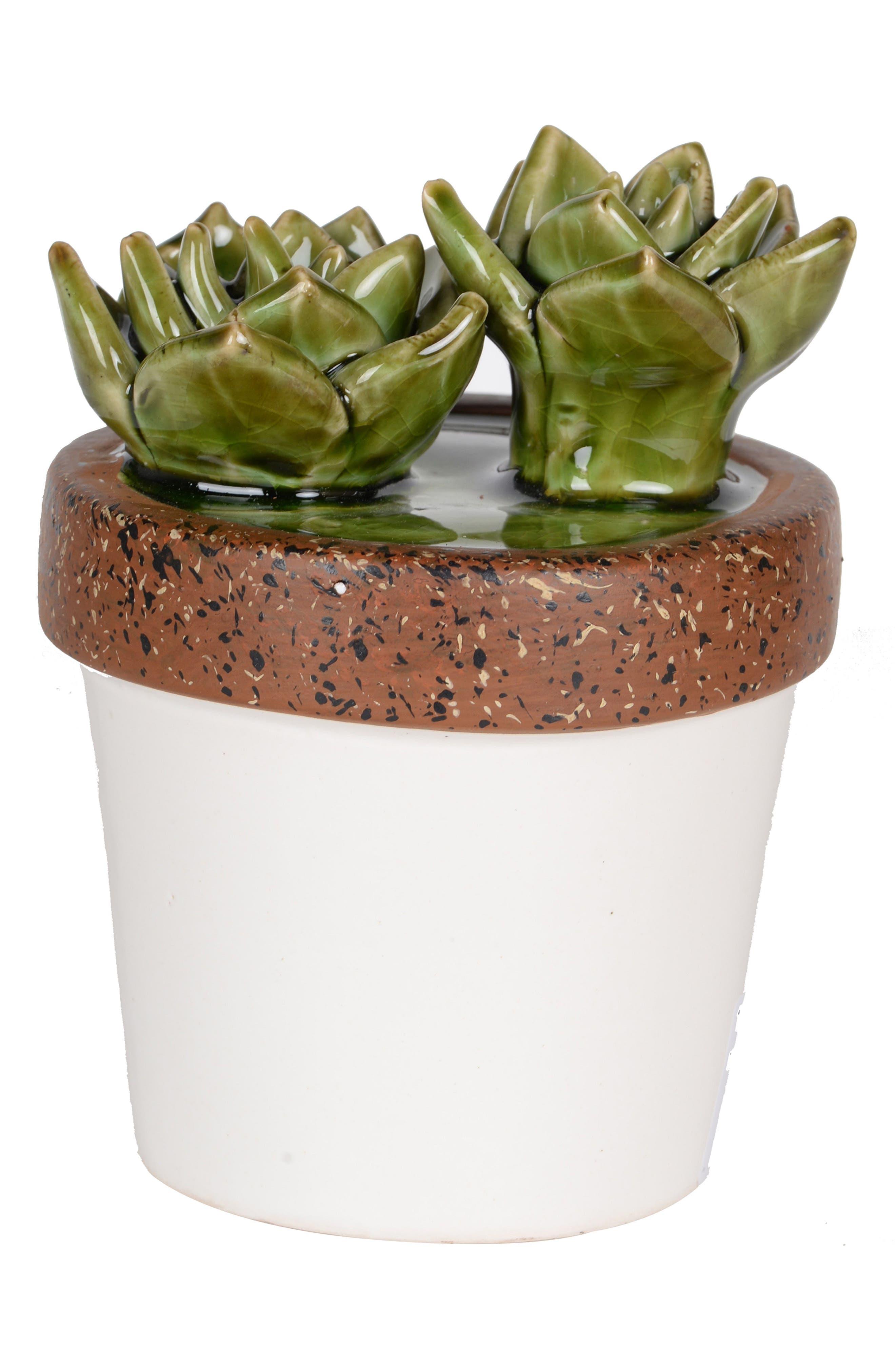 A & B Home Ceramic Plant Decoration,                         Main,                         color, White