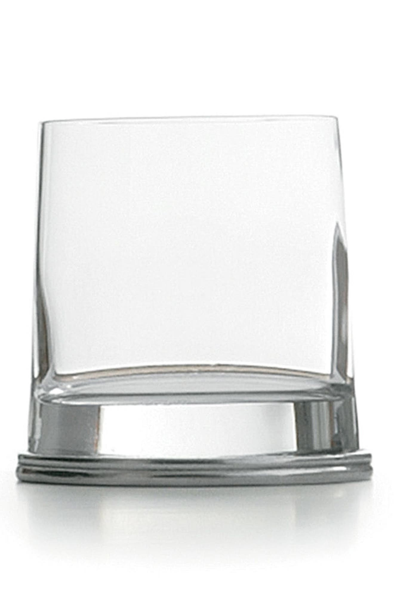 Milano Double Old-Fashioned Glass,                             Main thumbnail 1, color,                             Silver