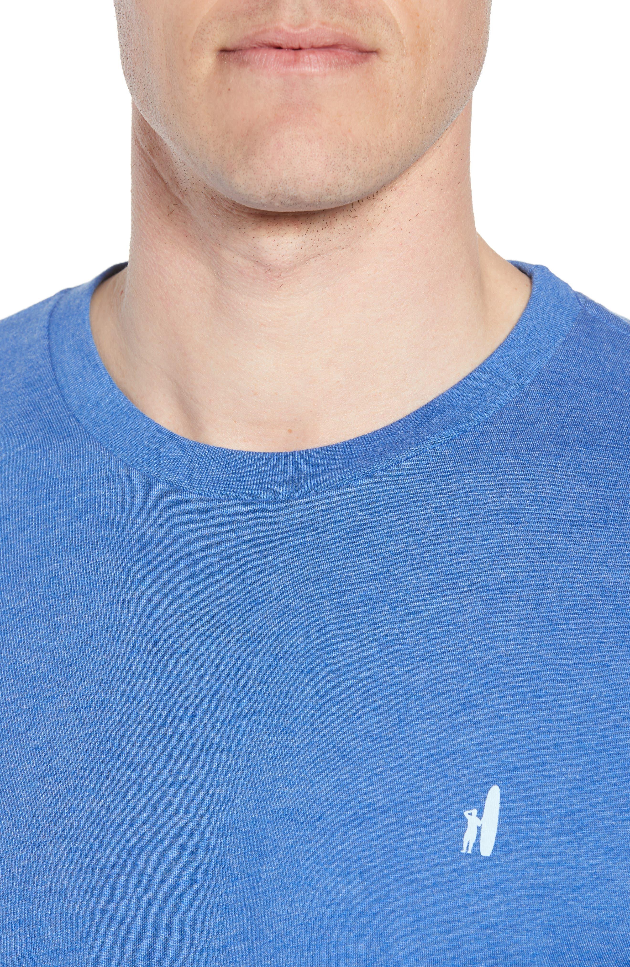 Cali Stripe Graphic T-Shirt,                             Alternate thumbnail 4, color,                             Ripple