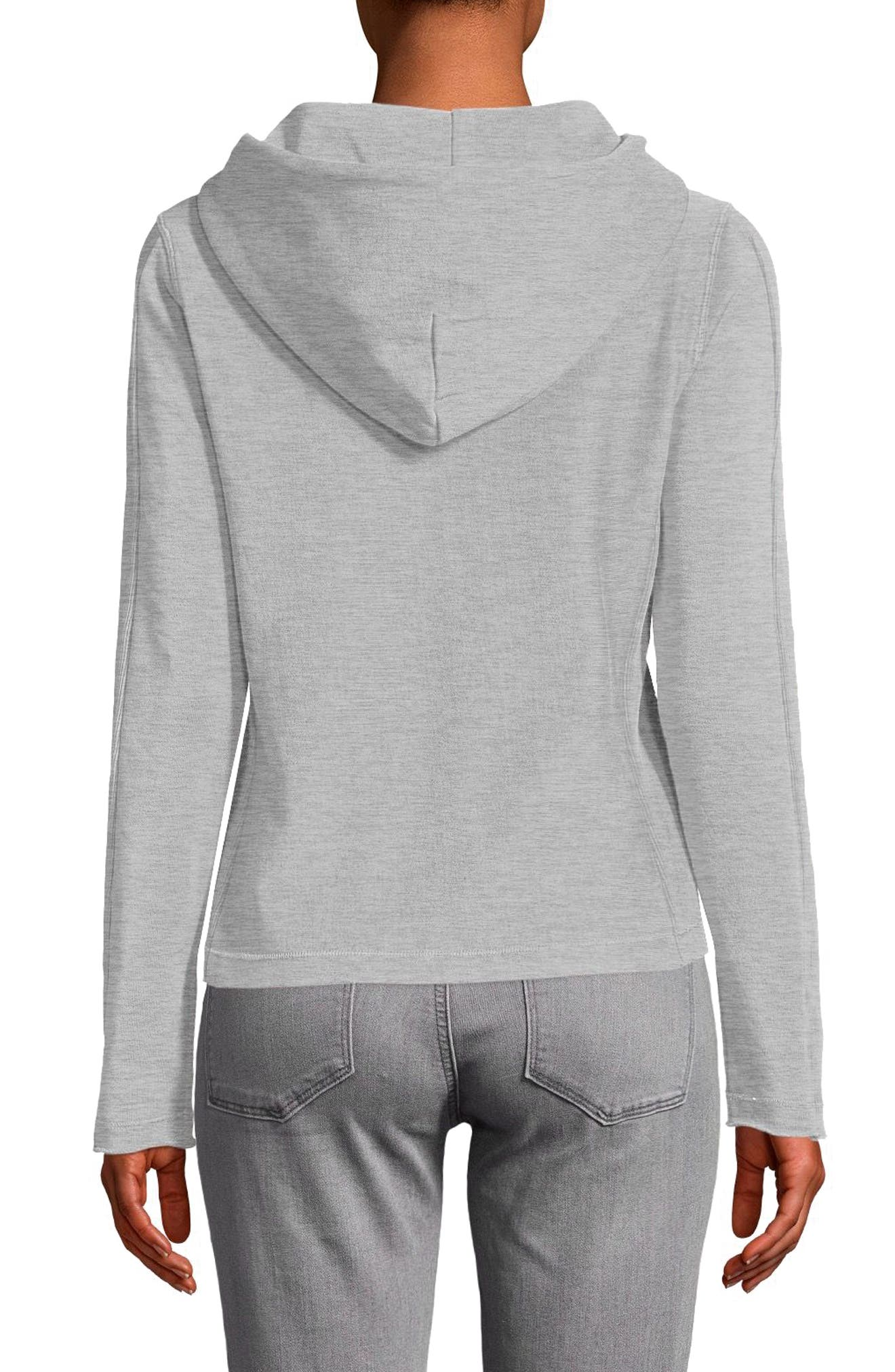 Recycled Terry Hoodie,                             Alternate thumbnail 2, color,                             Oxford Gray