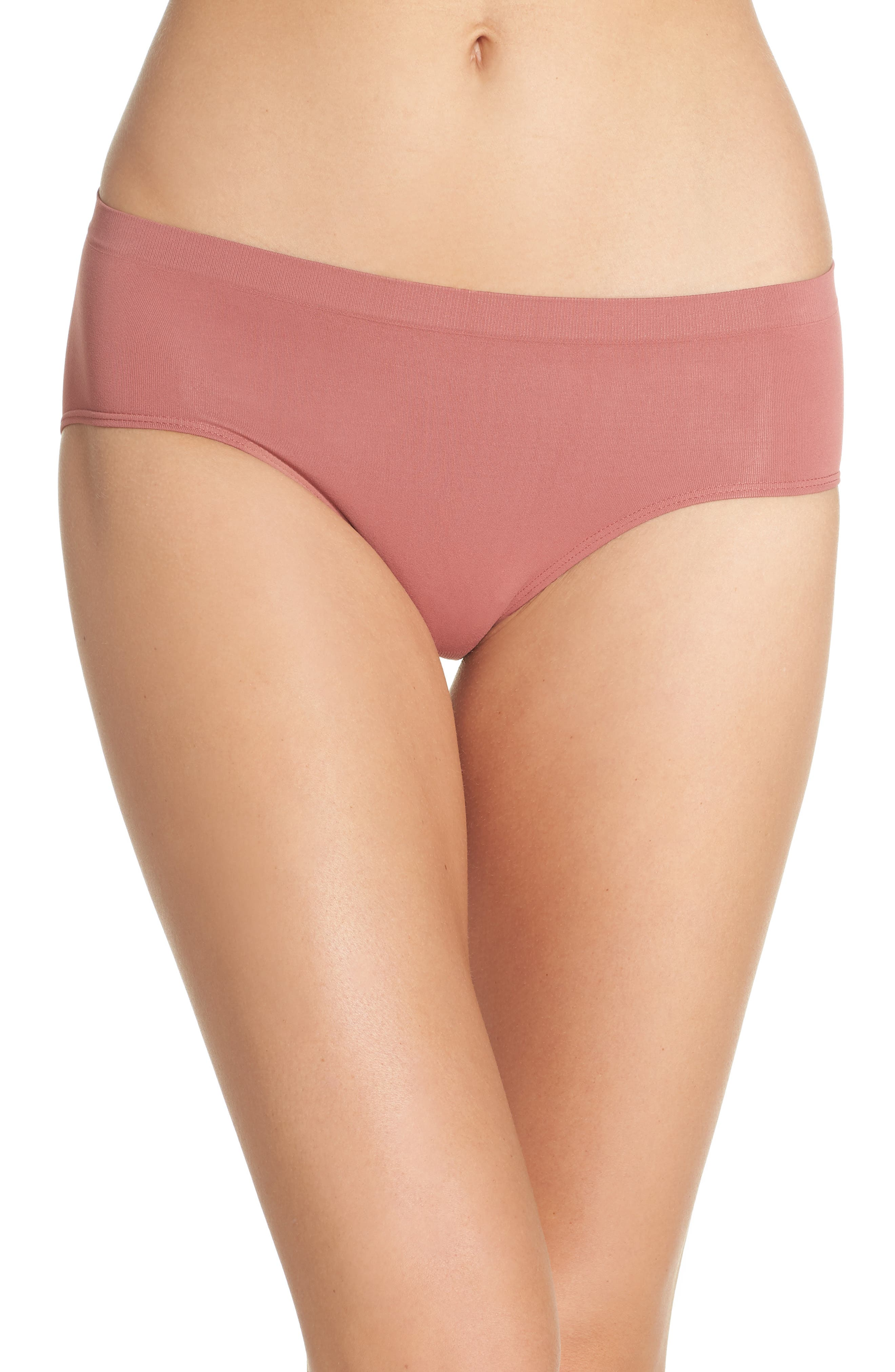 Main Image - Halogen® Seamless Hipster Briefs (3 for $33)