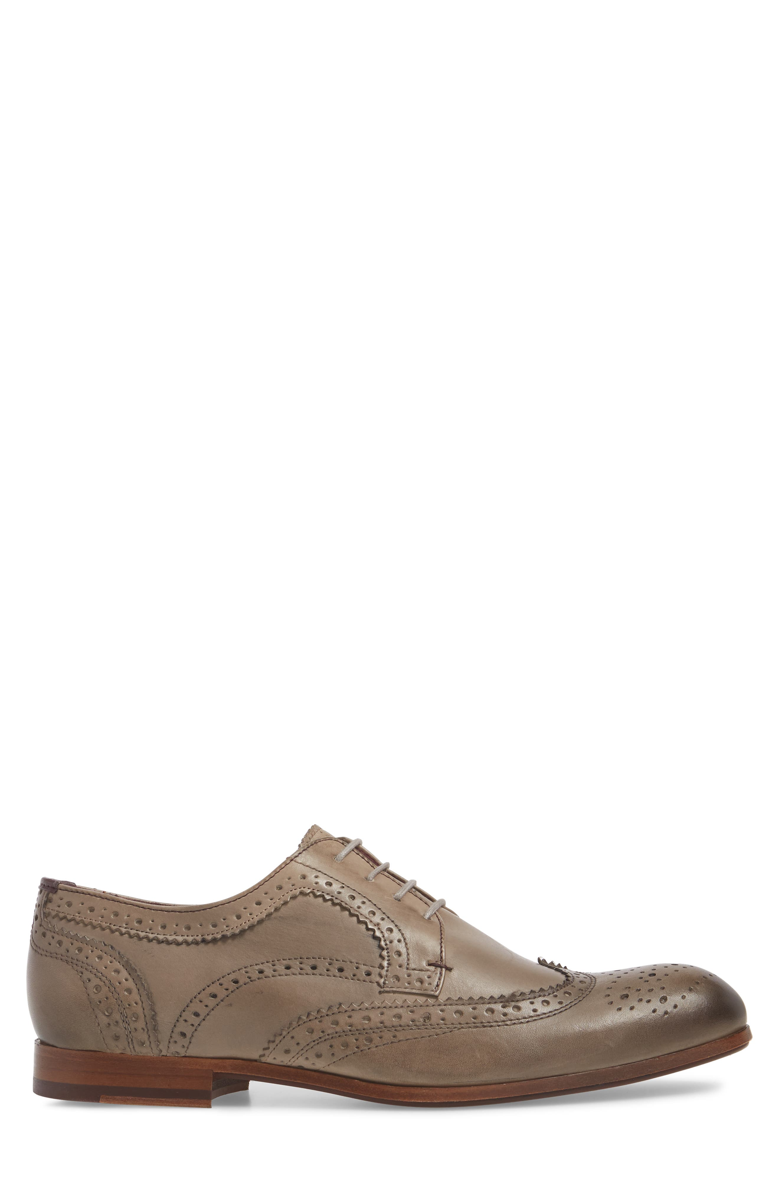 Granet Wingtip,                             Alternate thumbnail 3, color,                             Grey Leather