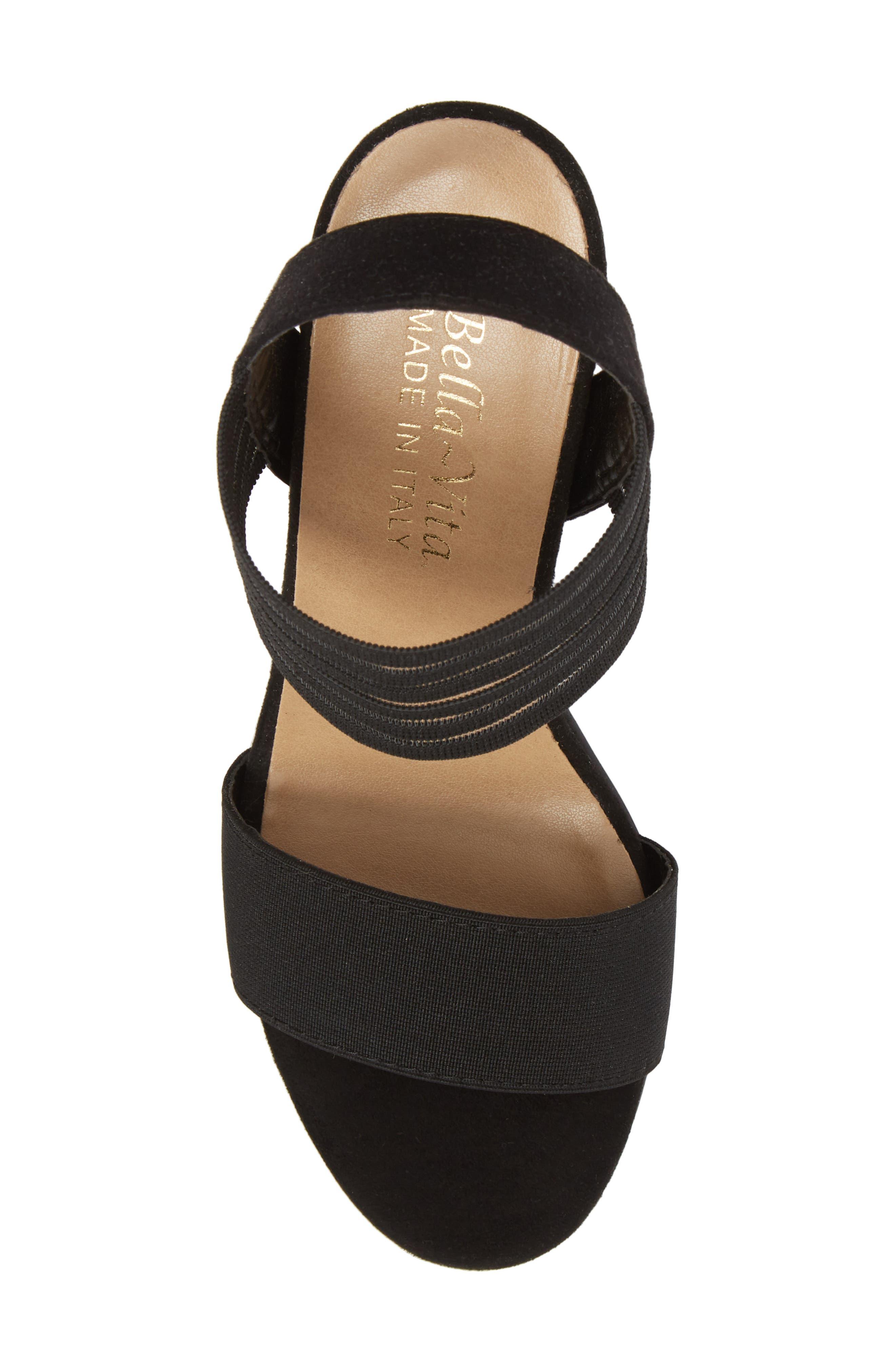 Dan Block Heel Sandal,                             Alternate thumbnail 5, color,                             Black Leather