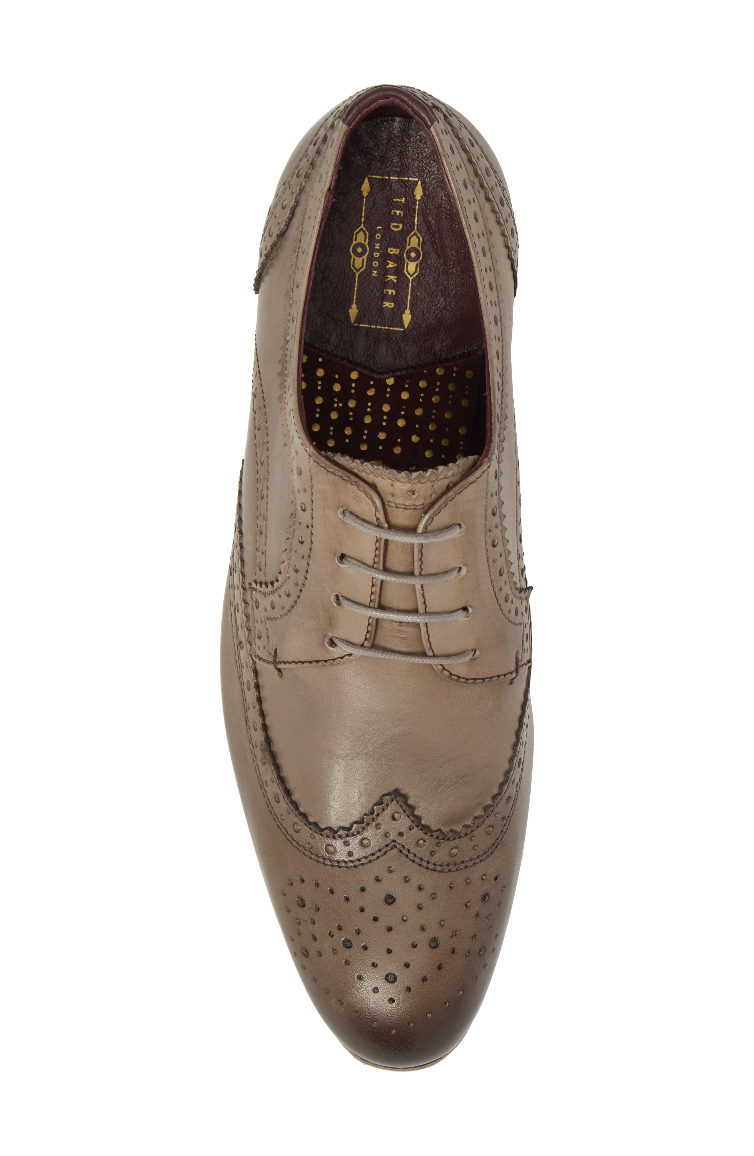 Granet Wingtip,                             Alternate thumbnail 5, color,                             Grey Leather